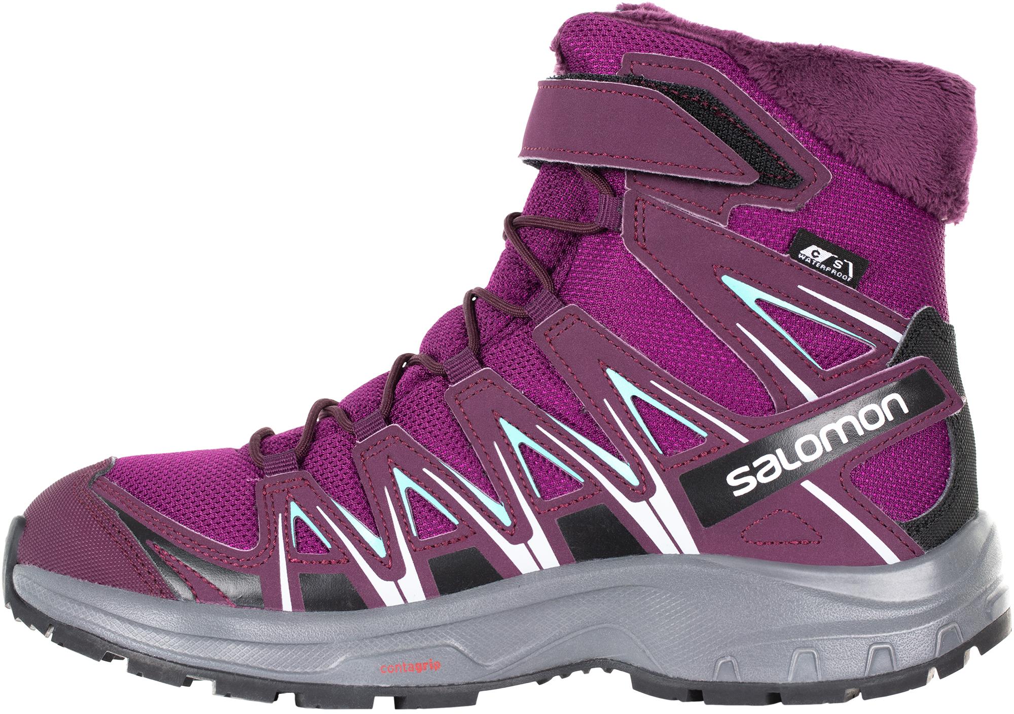 Salomon Сапоги утепленные для девочек XA PRO 3D Winter TS CSWP J, размер 33
