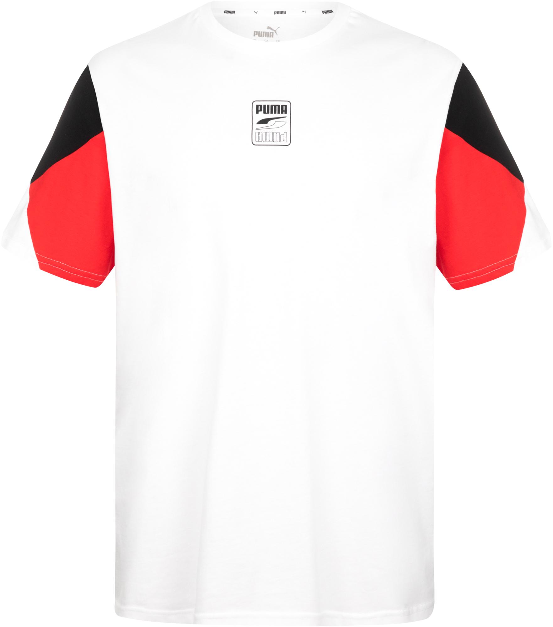 Puma Футболка мужская Puma Rebel Advanced Tee, размер 48-50 футболка мужская puma basic 2p crew tee цвет черный 2 шт 90668901 размер s 44 46