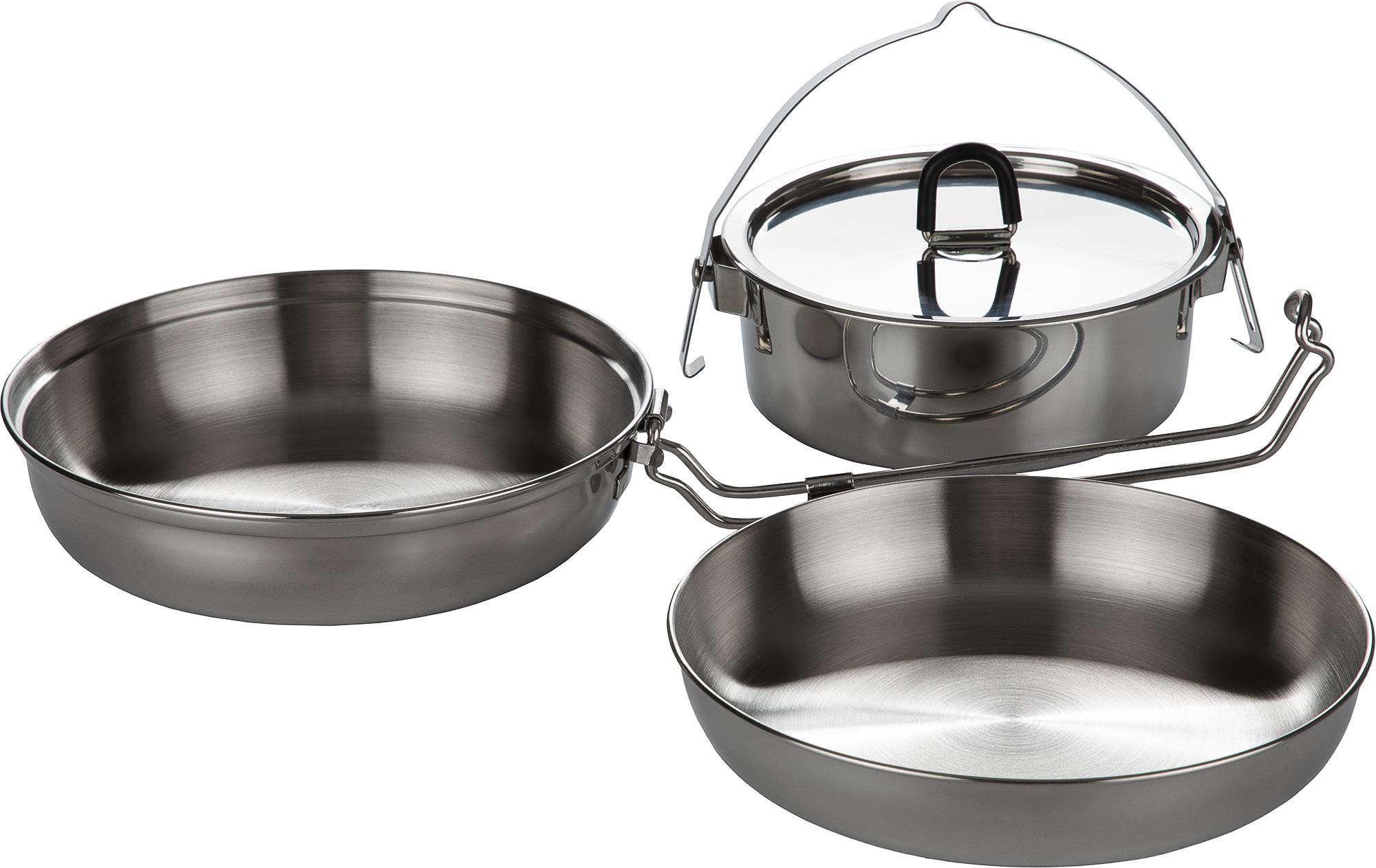 Tatonka Набор посуды: котелок, сковорода, миска CAMP SET REGULAR