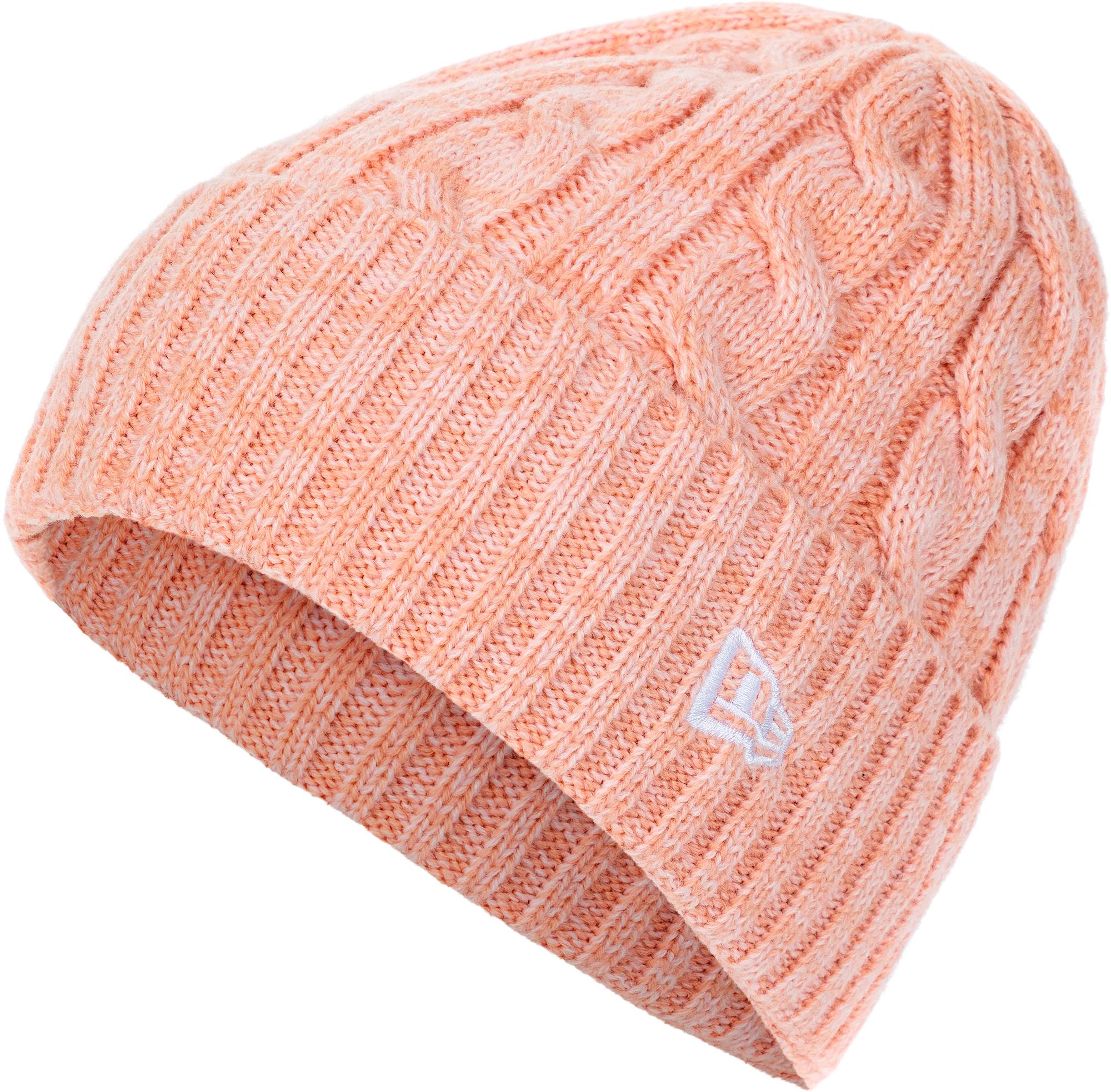 New Era Шапка женская New Era Cable Cuff Knit new era шапка new era lic 801 essential cuff knit размер без размера