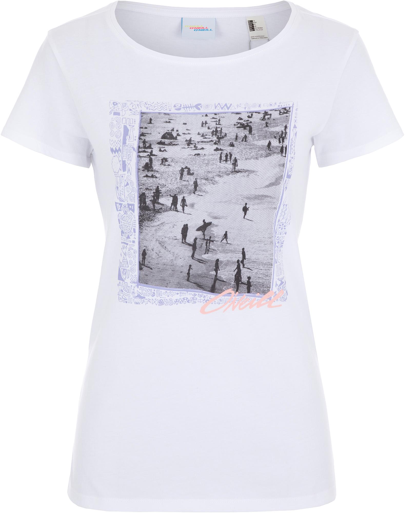 купить O'Neill Футболка женская O'Neill Lw Tora In New York, размер 44-46 по цене 499 рублей