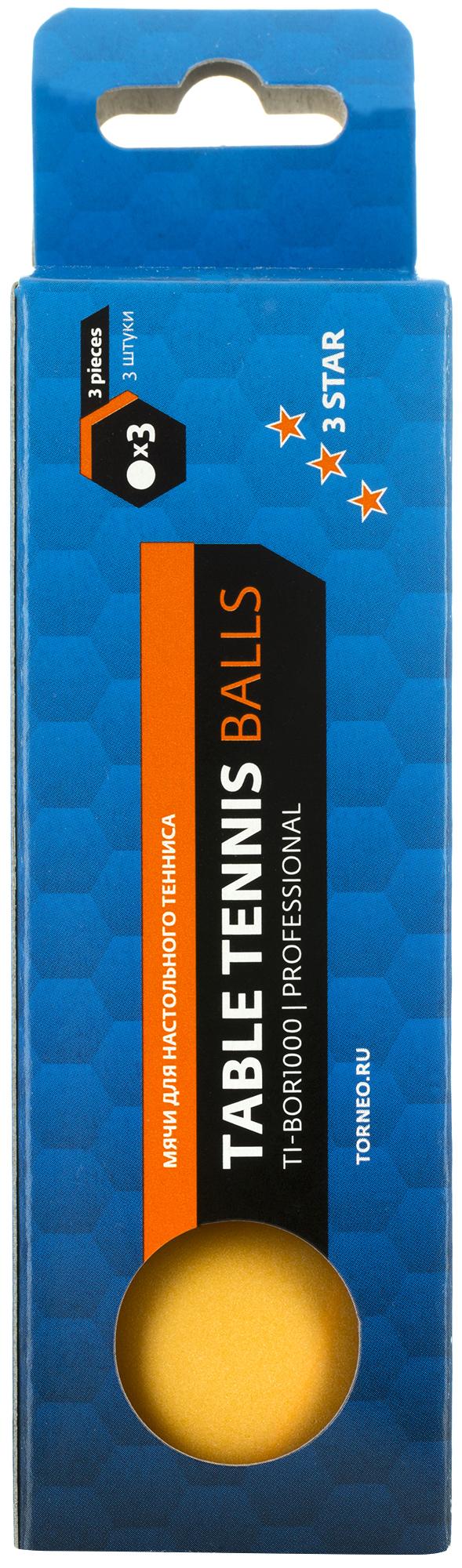 все цены на Torneo Мячи для настольного тенниса Torneo, 3 шт. онлайн