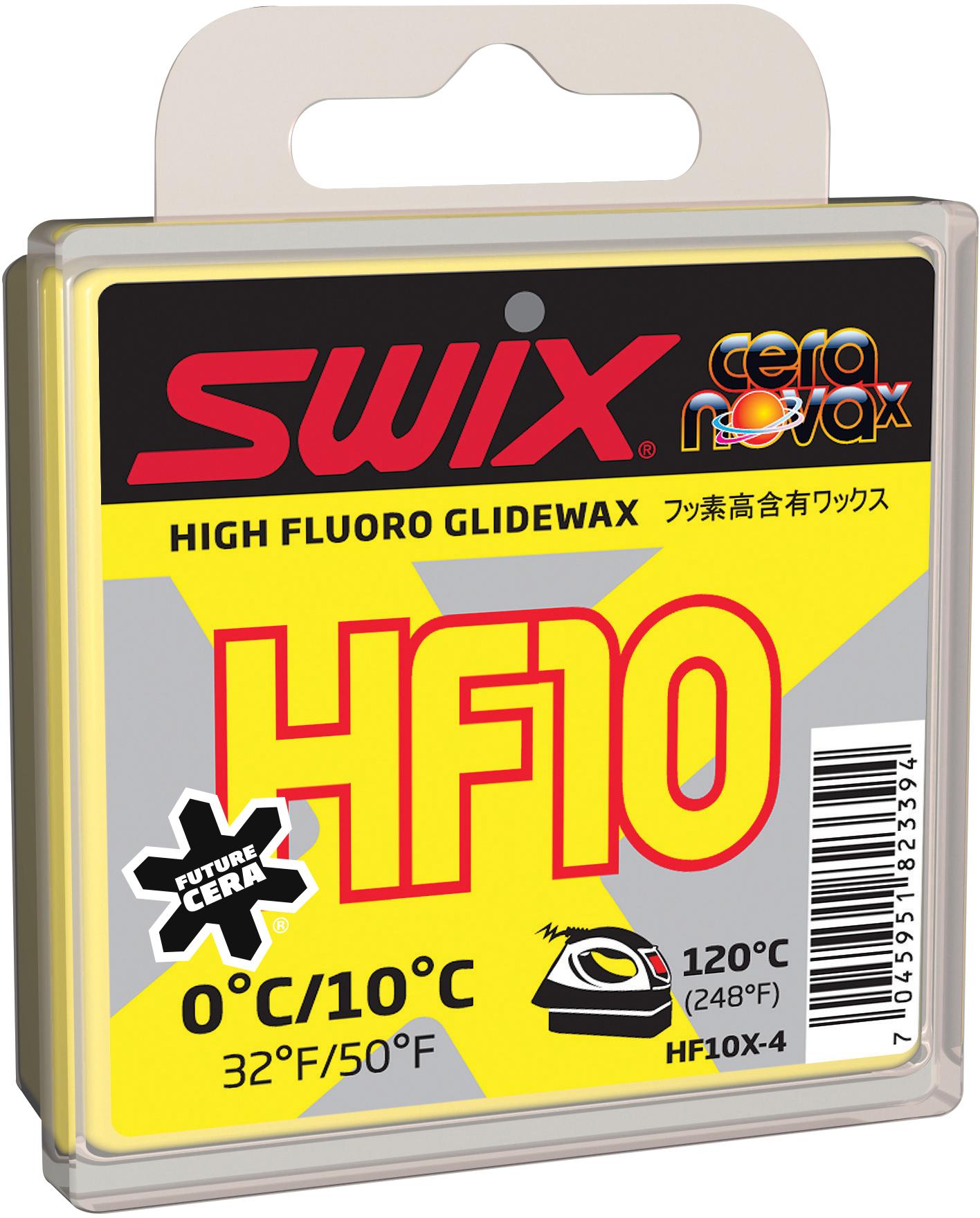 Swix Мазь скольжения Swix HF10X, 0C/+10C мазь твердая swix v0060 swix красный 45гр
