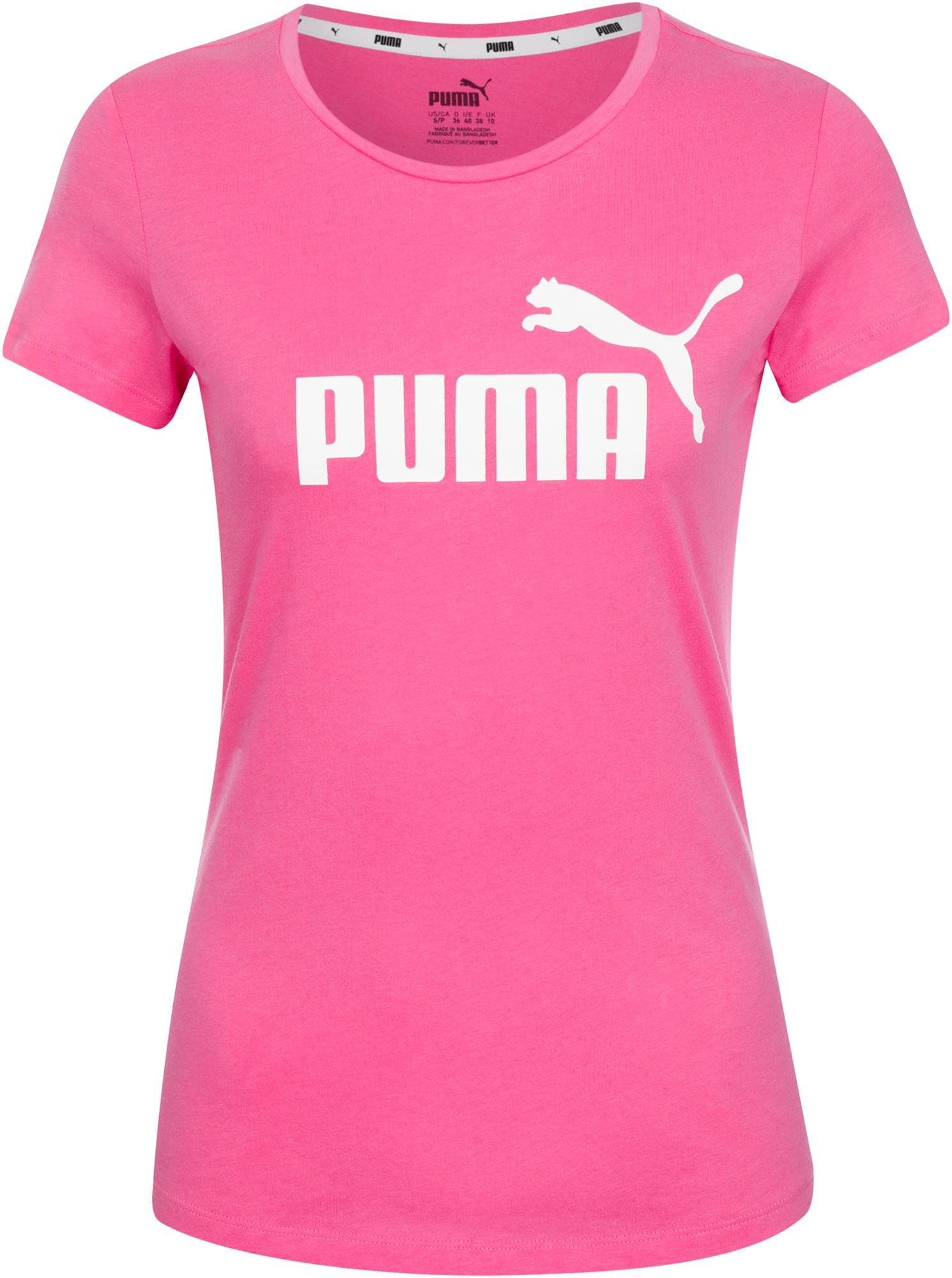 Puma Футболка женская Puma Ess Logo, размер 42-44 puma худи женская puma amplified cropped размер 42 44