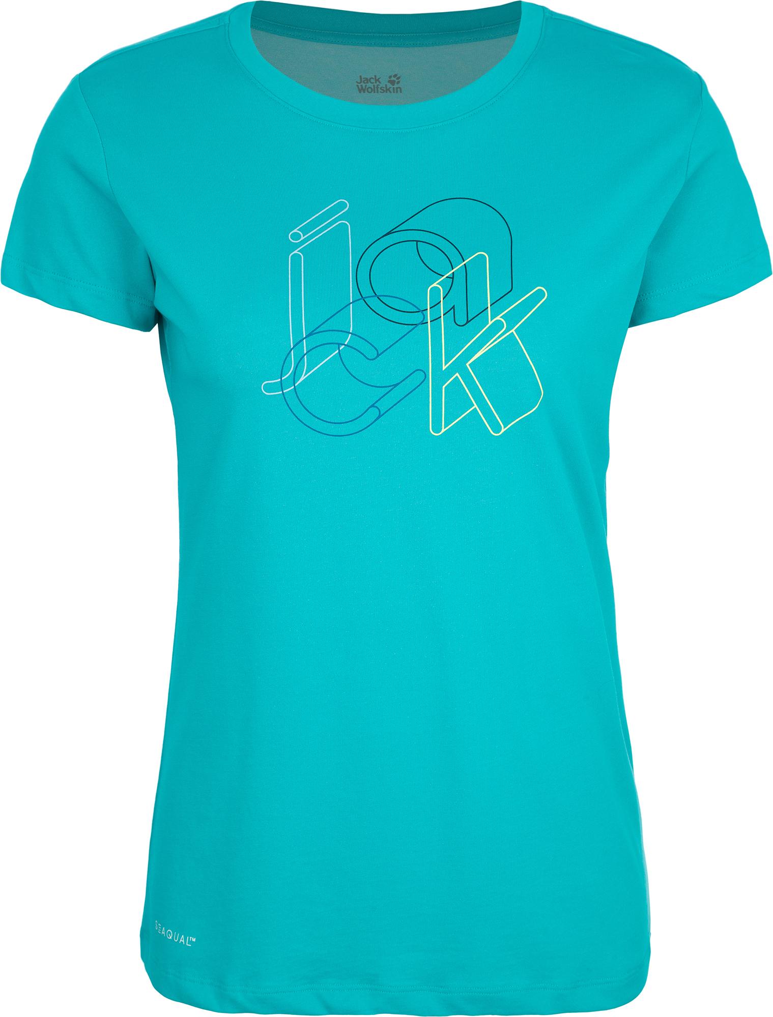 JACK WOLFSKIN Футболка женская JACK WOLFSKIN Ocean, размер 50 футболка jack