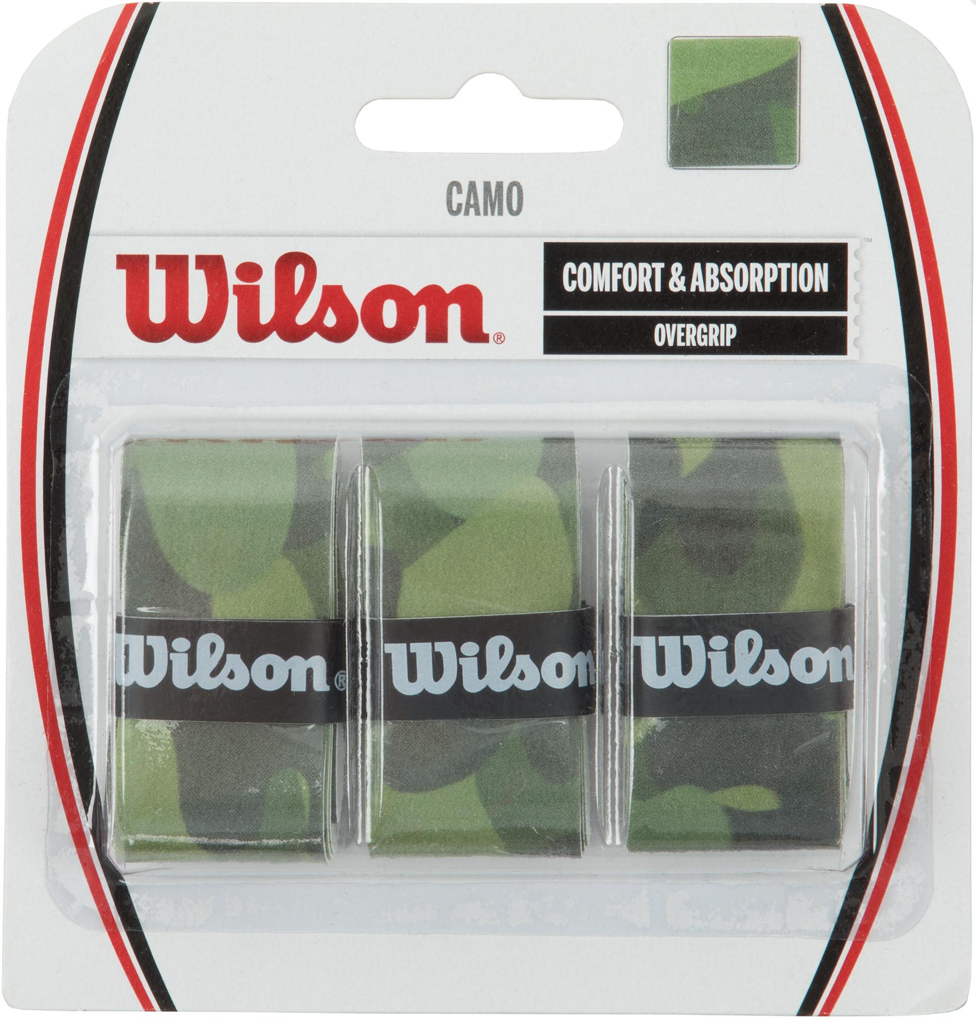 Wilson Намотка верхняя Wilson CAMO OVERGRIP GR овергрип babolat pro team sp overgrip x3 цвет синий