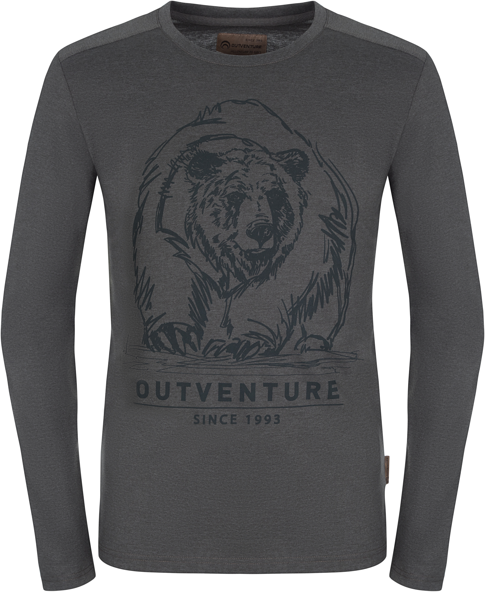 Outventure Лонгслив мужской Outventure, размер 48 лонгслив мужской oodji basic цвет серый 5b511002m 46737n 2300m размер s 46 48