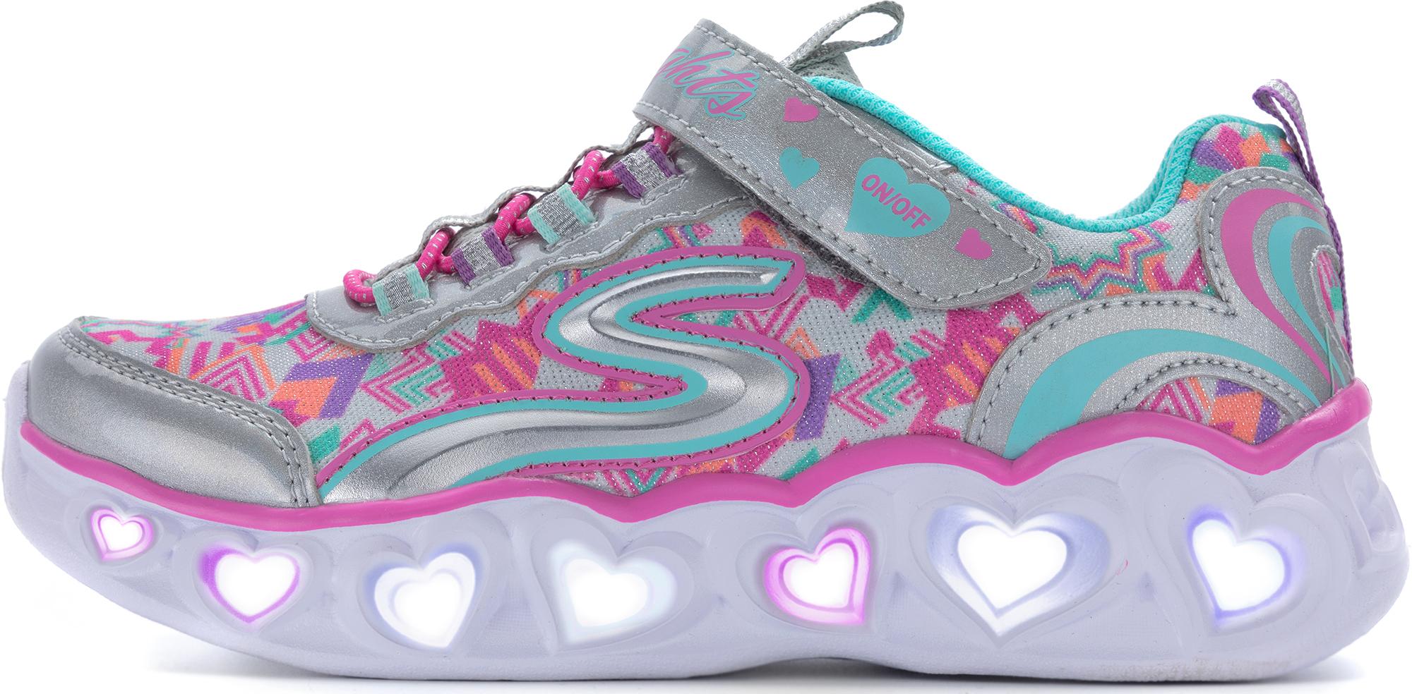 Skechers Кроссовки для девочек Heart Lights Love Lights, размер 30