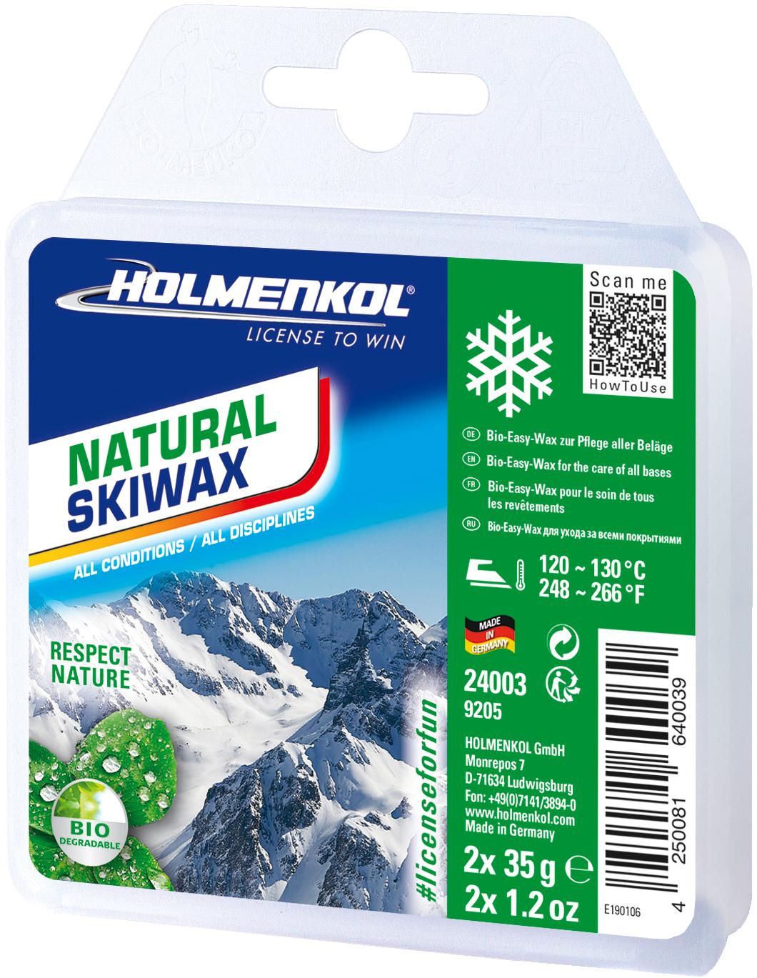 Holmenkol Мазь скольжения твердая для лыж и сноубордов HOLMENKOL