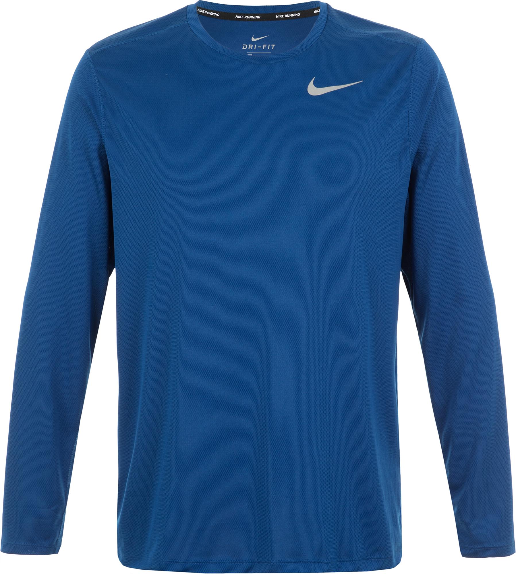 Nike Лонгслив мужской Nike Breathe, размер 46-48 лонгслив мужской oodji basic цвет серый 5b511002m 46737n 2300m размер s 46 48
