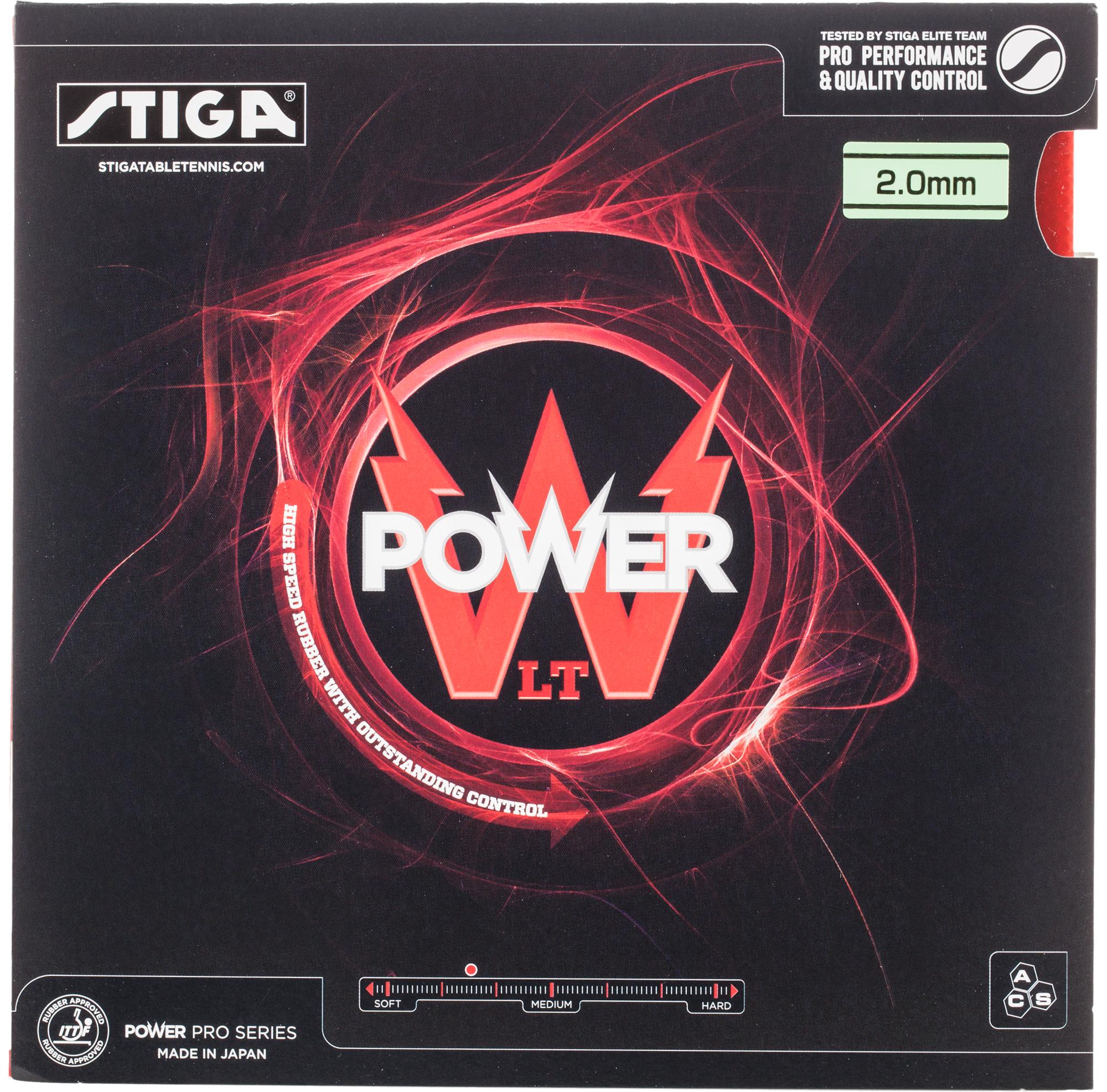 Stiga Накладка для настольного тенниса Stiga Power LT, размер Без размера stiga накладка stiga jms evo 1