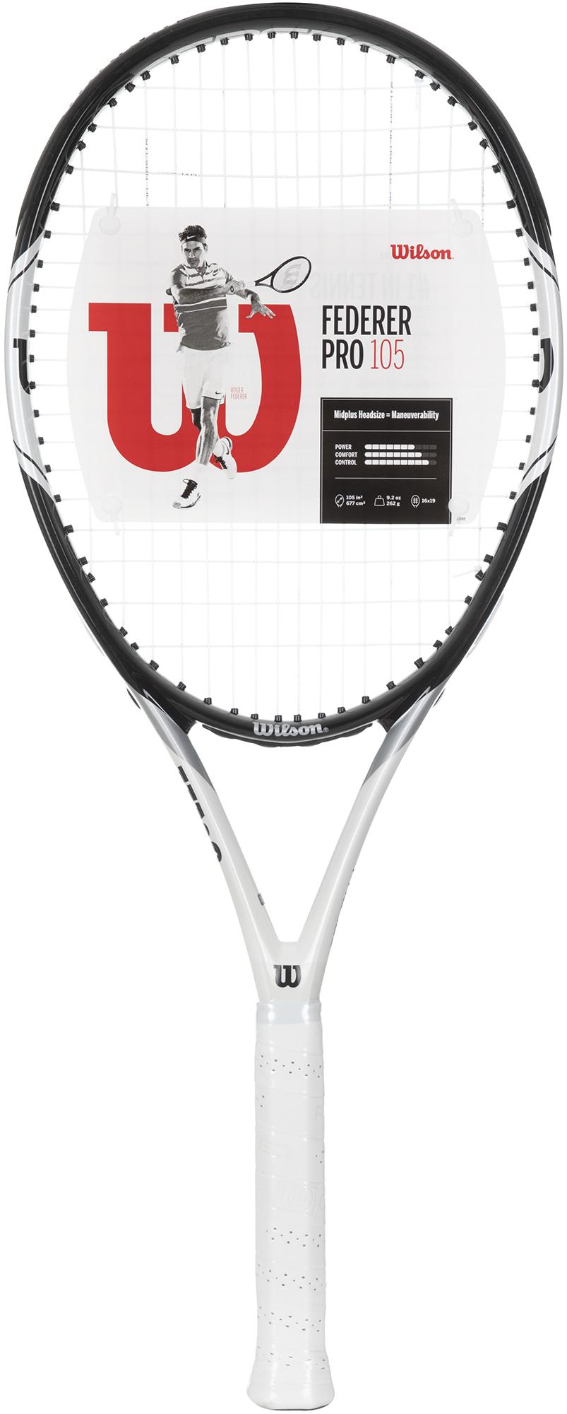 Wilson Ракетка для большого тенниса Wilson FEDERER PRO 105 27, размер 3 wilson ракетка для большого тенниса детская wilson roger federer 23 размер без размера