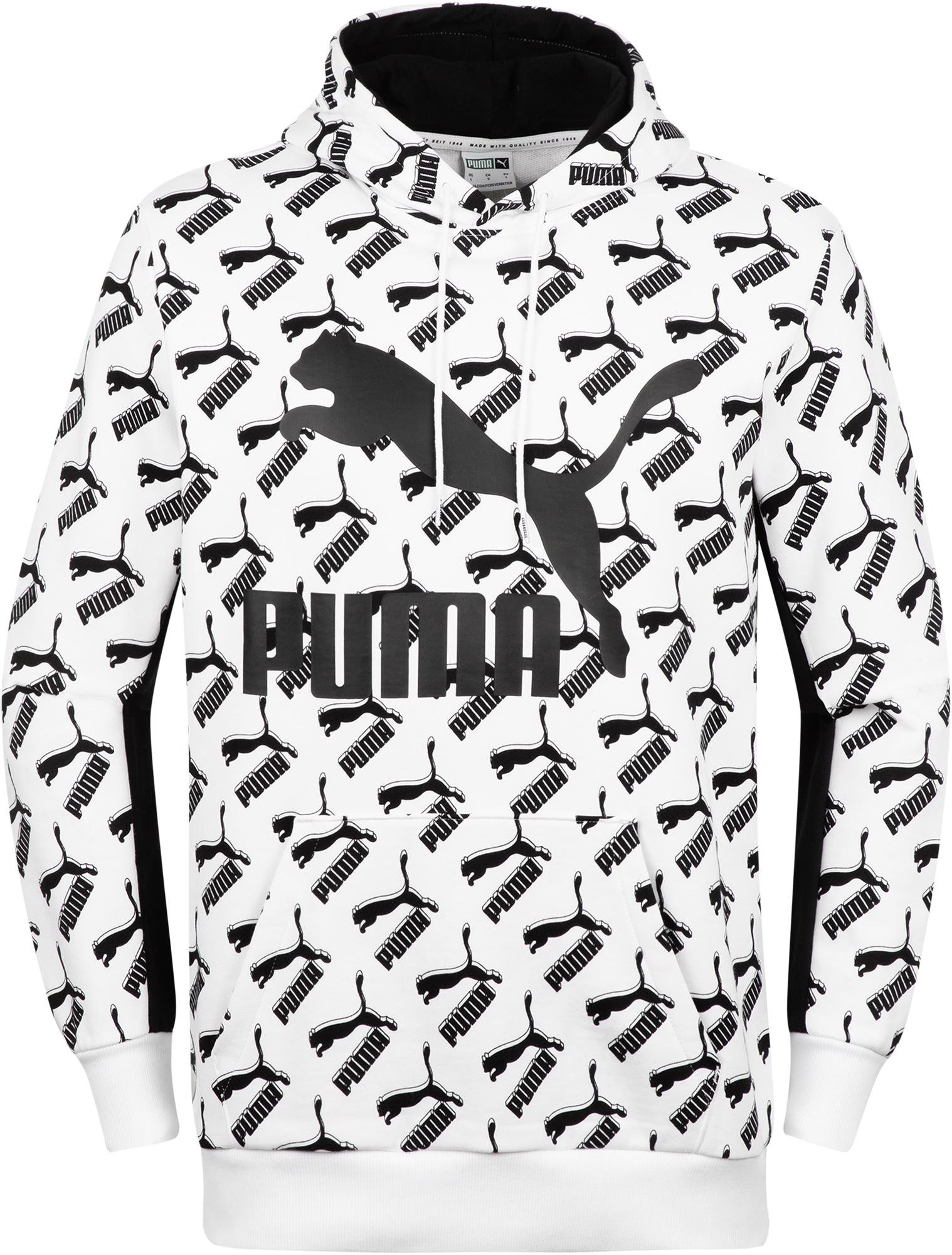 Puma Худи мужская Puma AOP Logo, размер 50-52 puma футболка мужская puma aop split tee размер 48 50