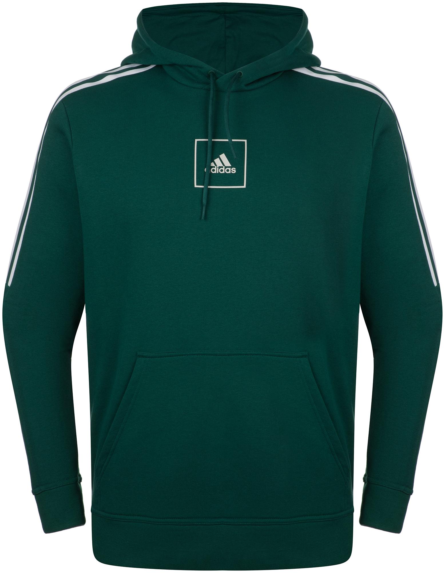 худи женское adidas ess 3s fz hd цвет серый розовый br2438 размер s 42 44 Adidas Худи мужская Adidas 3-Stripes, размер 48-50