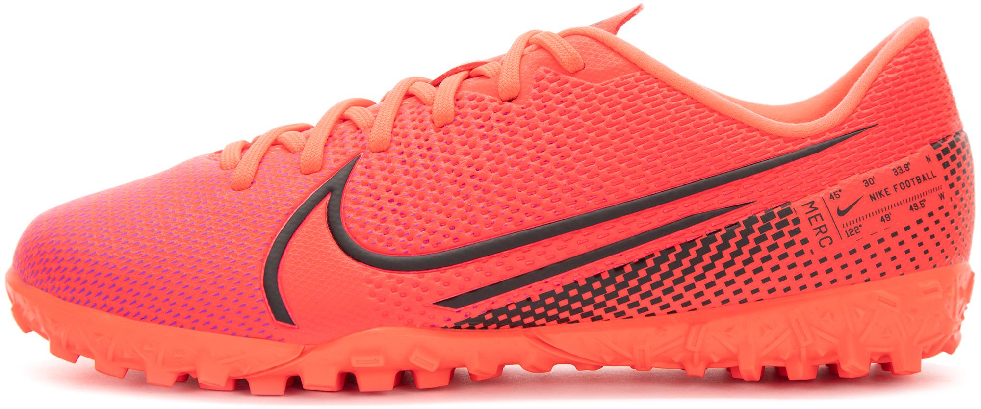 Фото - Nike Бутсы для мальчиков Nike Jr Vapor 13 Academy TF, размер 37 шиповки детские nike vapor 13 academy neymar tf at8144 104