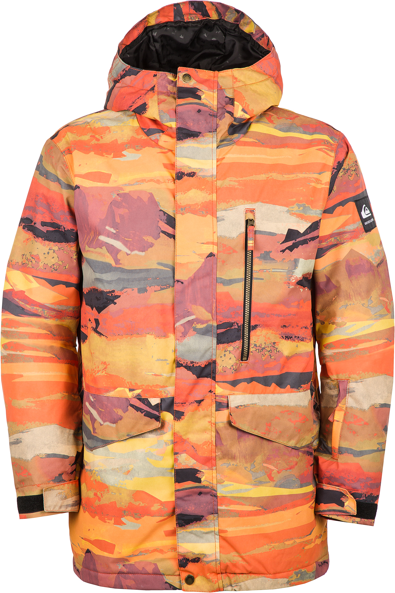 Quiksilver Куртка утепленная мужская Mission Printed Jk, размер 52-54