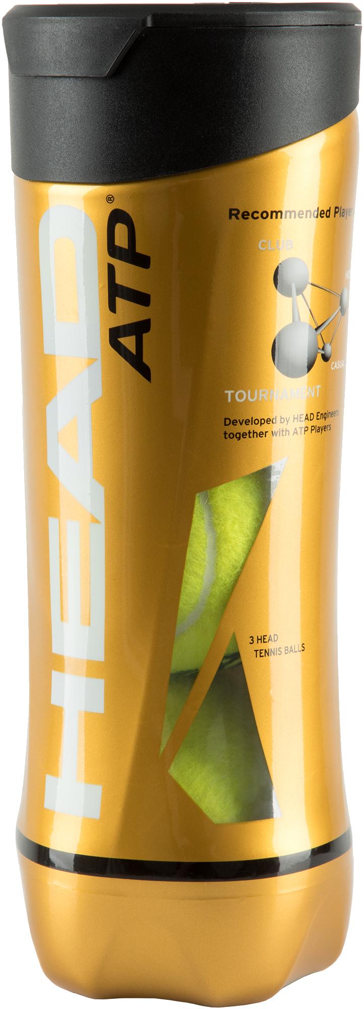 Head Набор теннисных мячей Head Atp, 3 шт цена