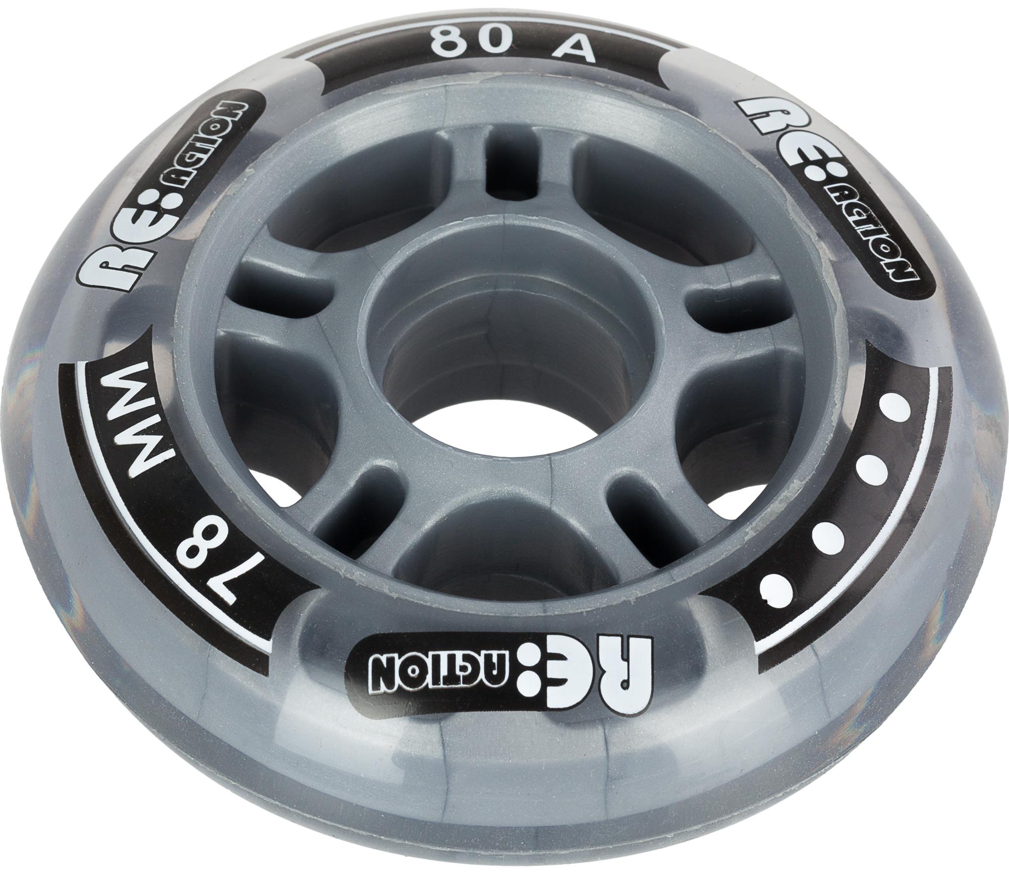 Reaction Набор колес для роликов REACTION 78 мм, 80А, 4 шт