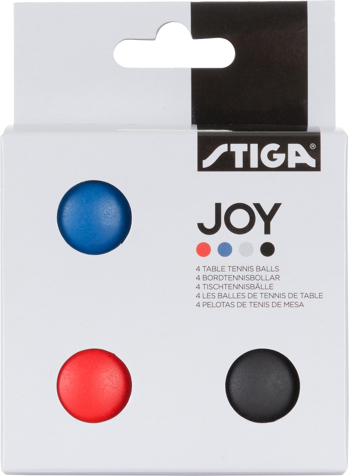 Stiga Мячи для настольного тенниса Stiga JOY, 4 шт., размер Без размера