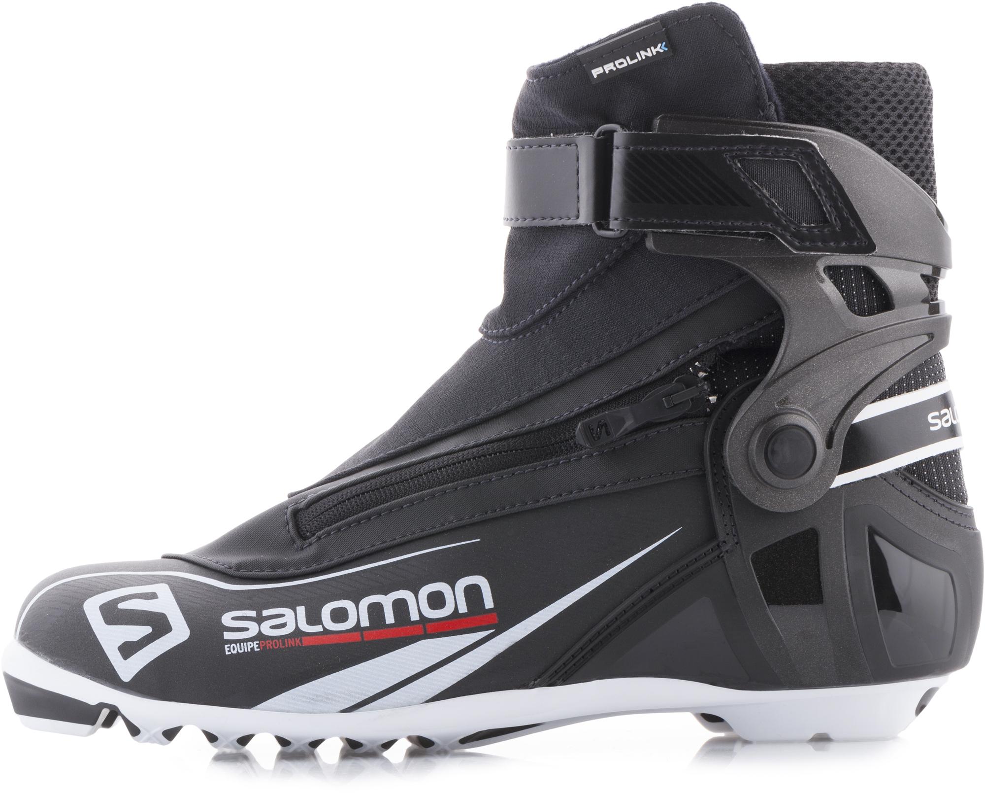 Salomon Ботинки для беговых лыж Salomon Equipe prolink, размер 42,5 salomon ботинки для беговых лыж женские salomon siam 7 prolink
