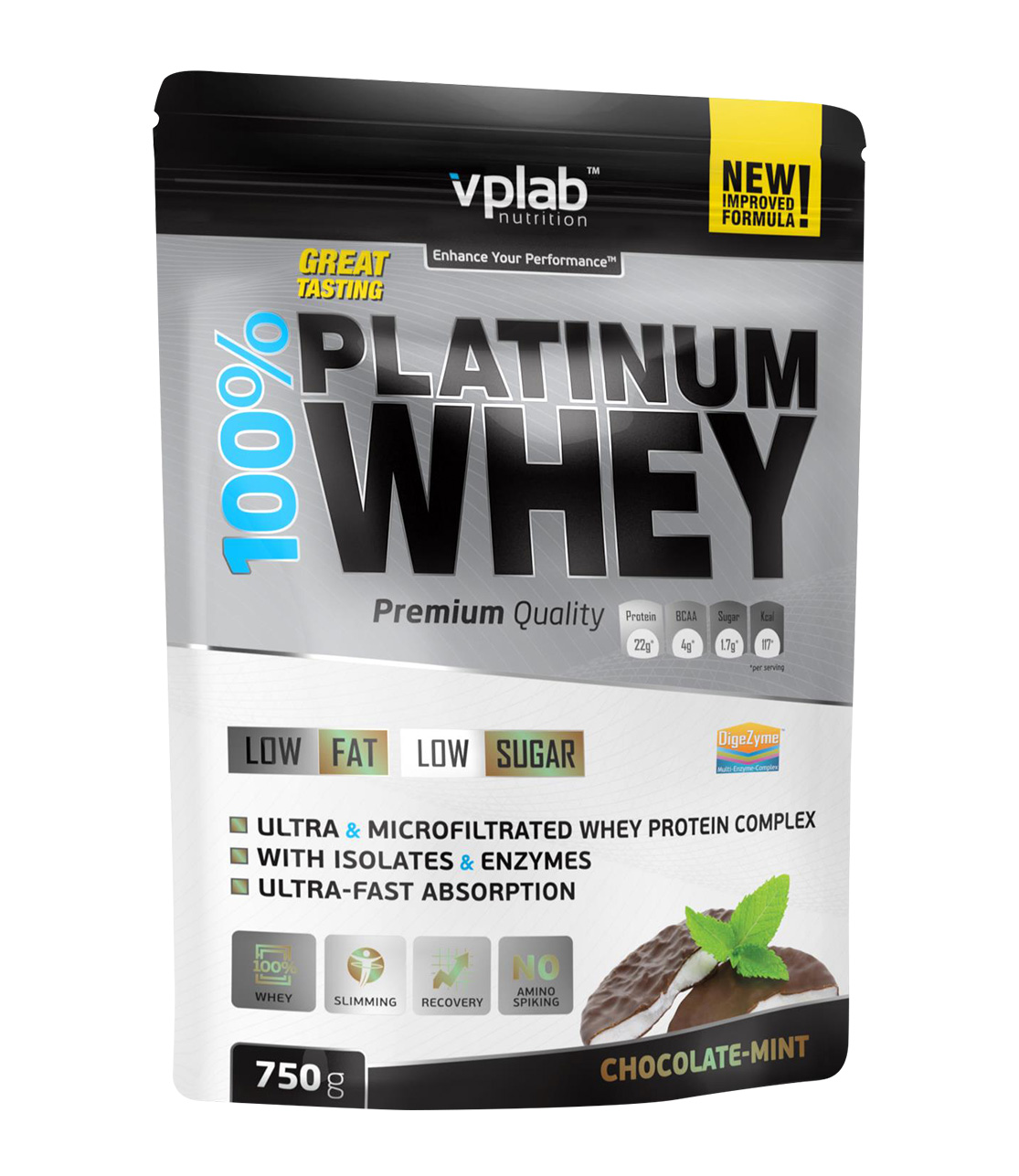 Vplab nutrition Протеин, шоколад и мята (750 гр)