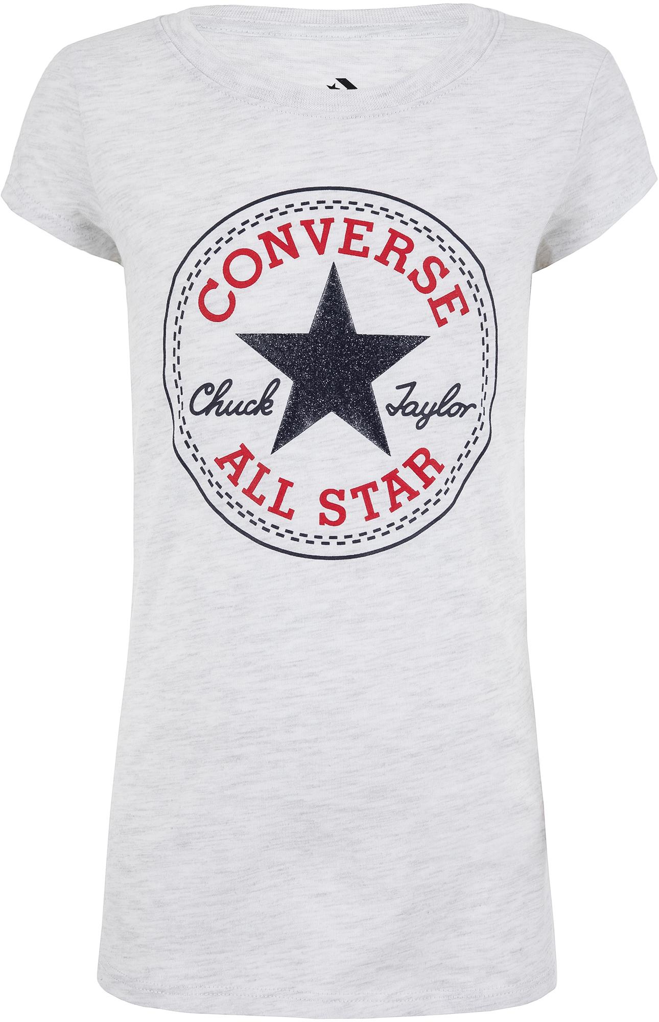 Converse Футболка для девочек Converse Timels Chuck Patch, размер 152