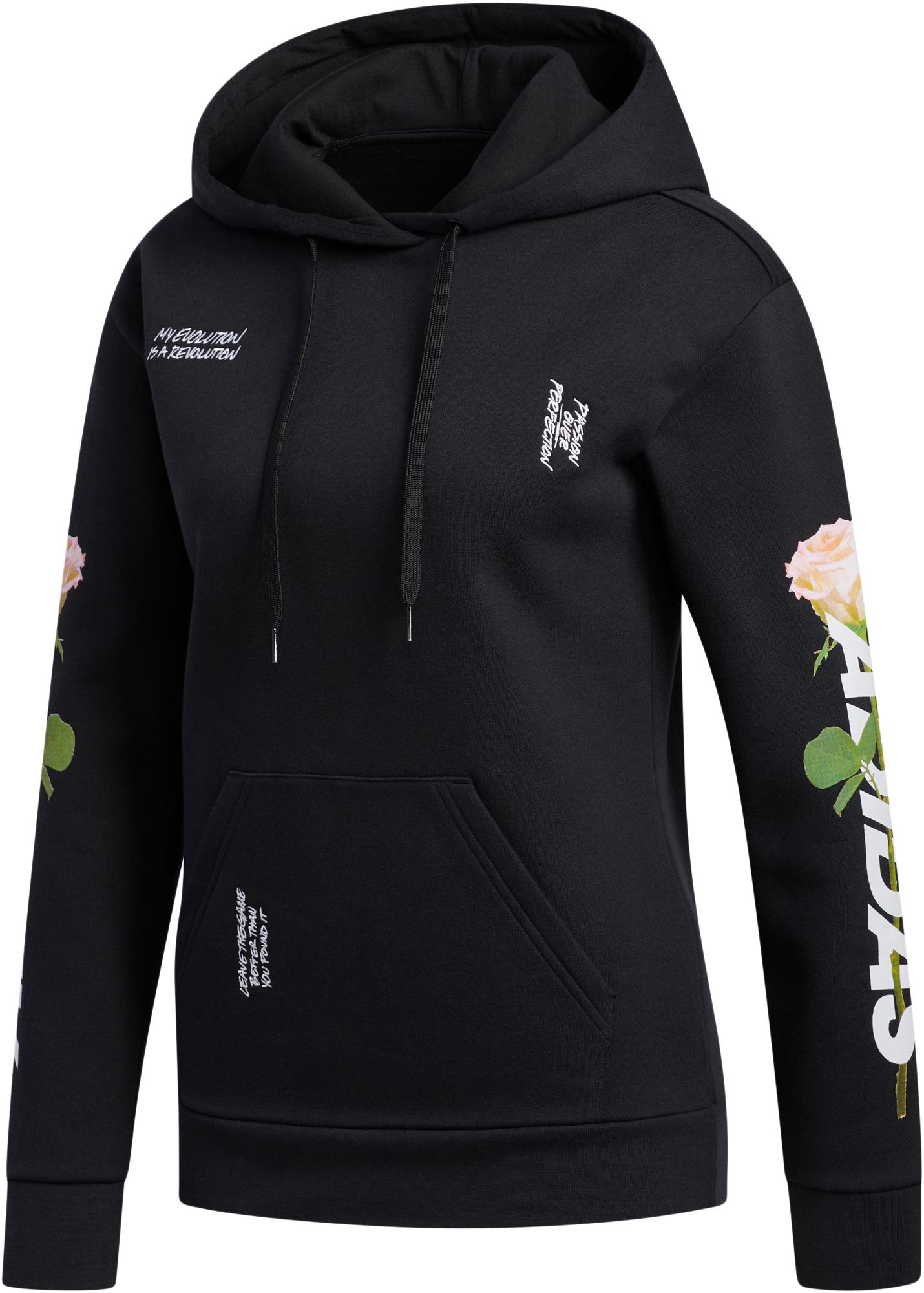 Adidas Худи женская Floral, размер 54-56