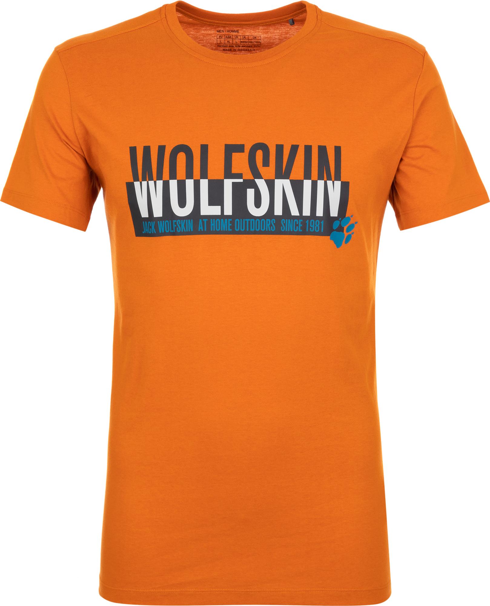 JACK WOLFSKIN Футболка мужская JACK WOLFSKIN Slogan, размер 44