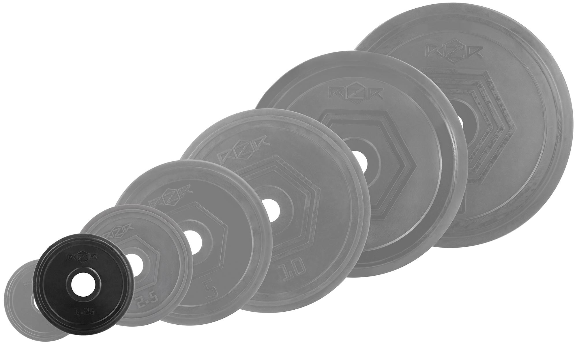 RZR Блин стальной обрезиненный RZR 1,25 кг