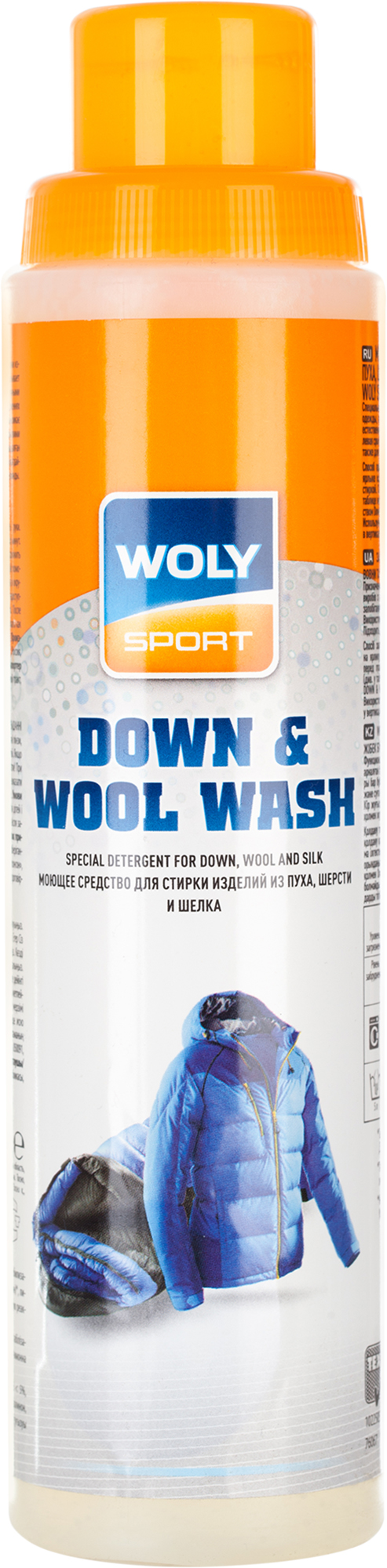 Woly Моющее средство для стирки пуха, шерсти и шелка Sport Down & Wool Wash, 260 мл