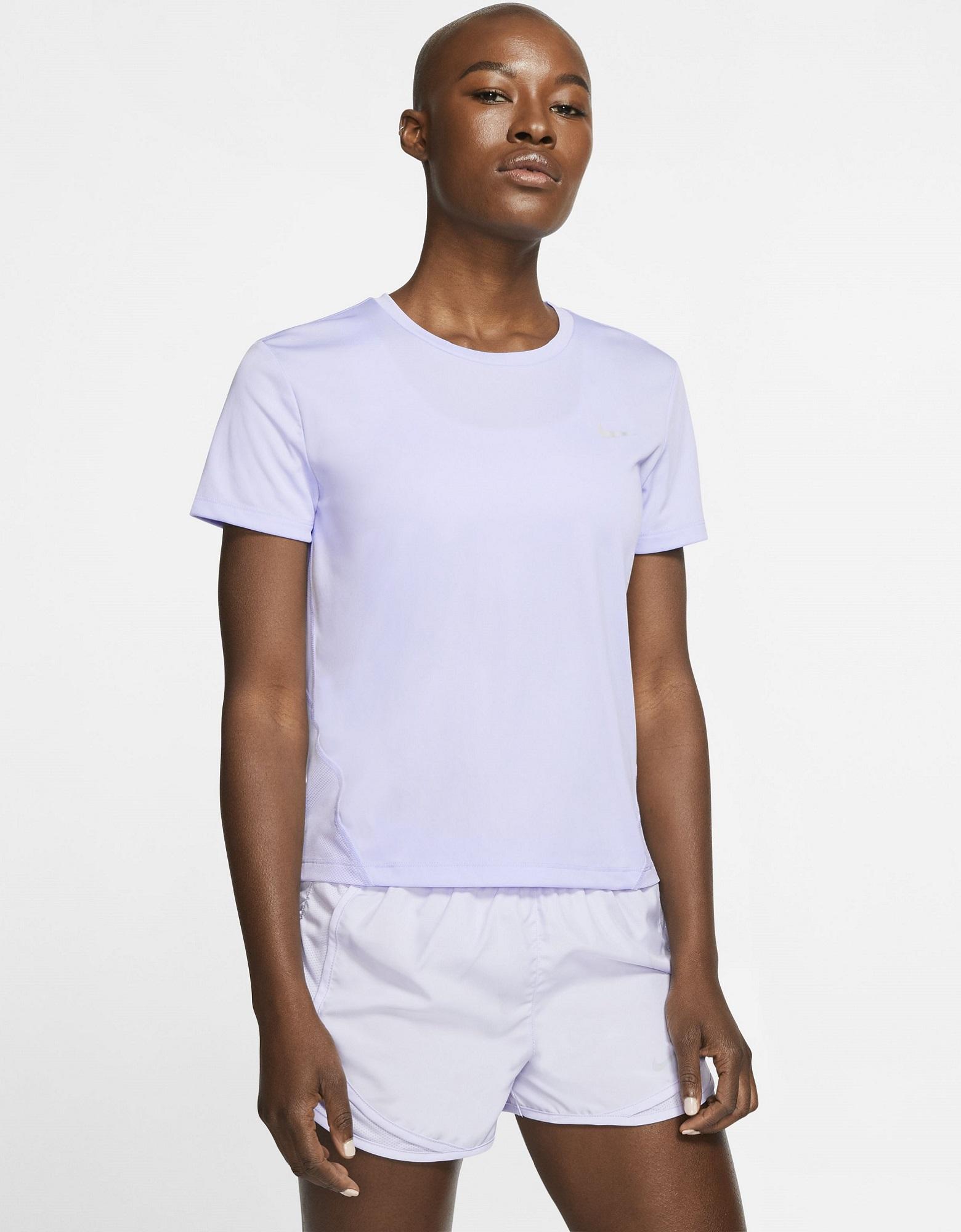 Nike Футболка женская Nike Miler, размер 46-48 nike футболка мужская nike cool miler