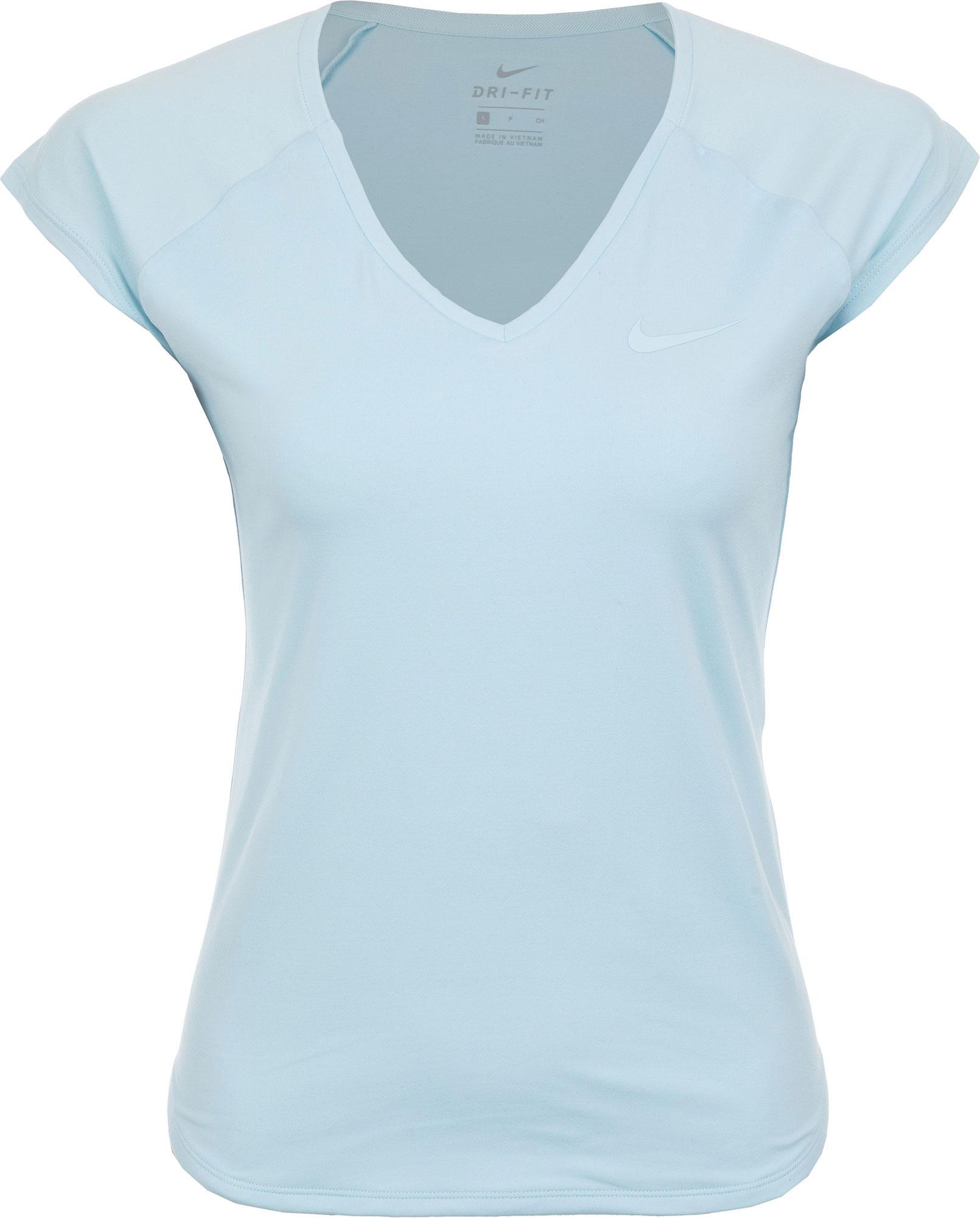 цена Nike Футболка женская Nike Pure, размер 42-44 онлайн в 2017 году