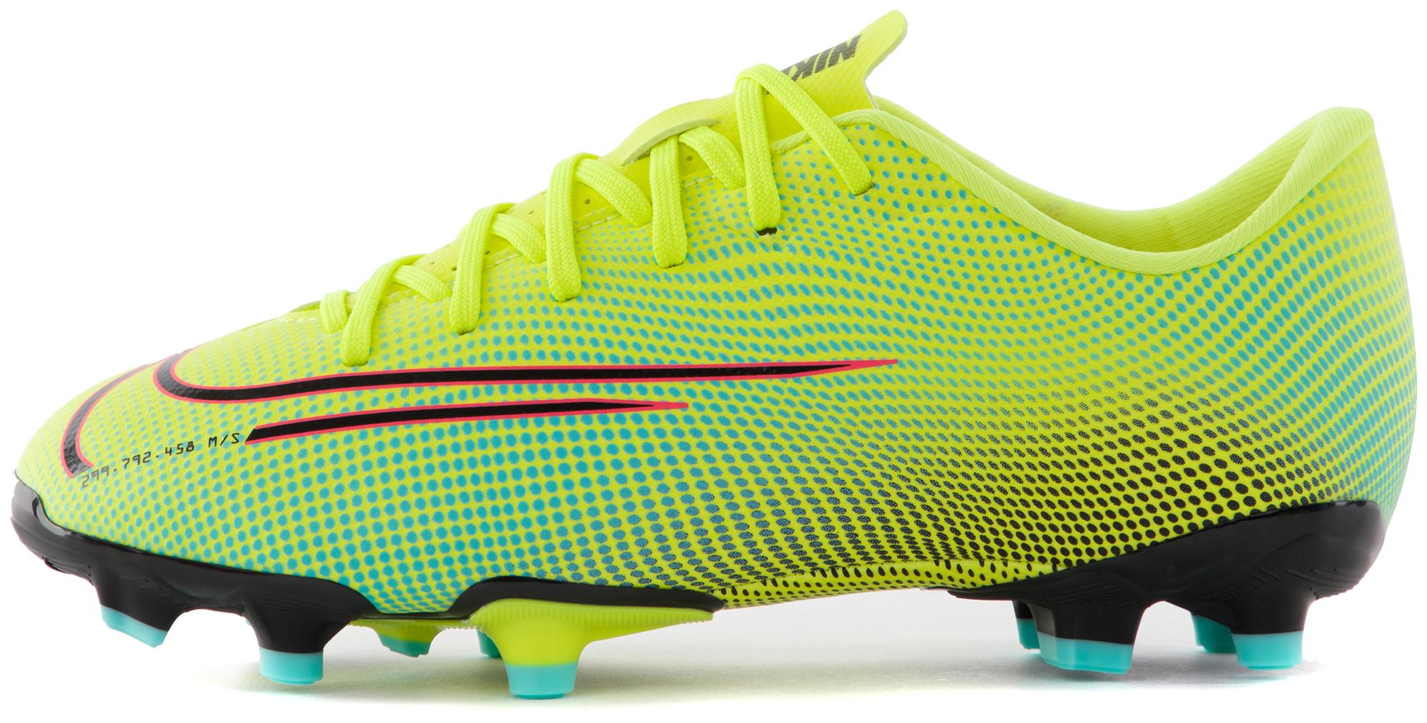 цена Nike Бутсы для мальчиков Nike Vapor 13 Academy MDS FG/MG, размер 36.5 онлайн в 2017 году