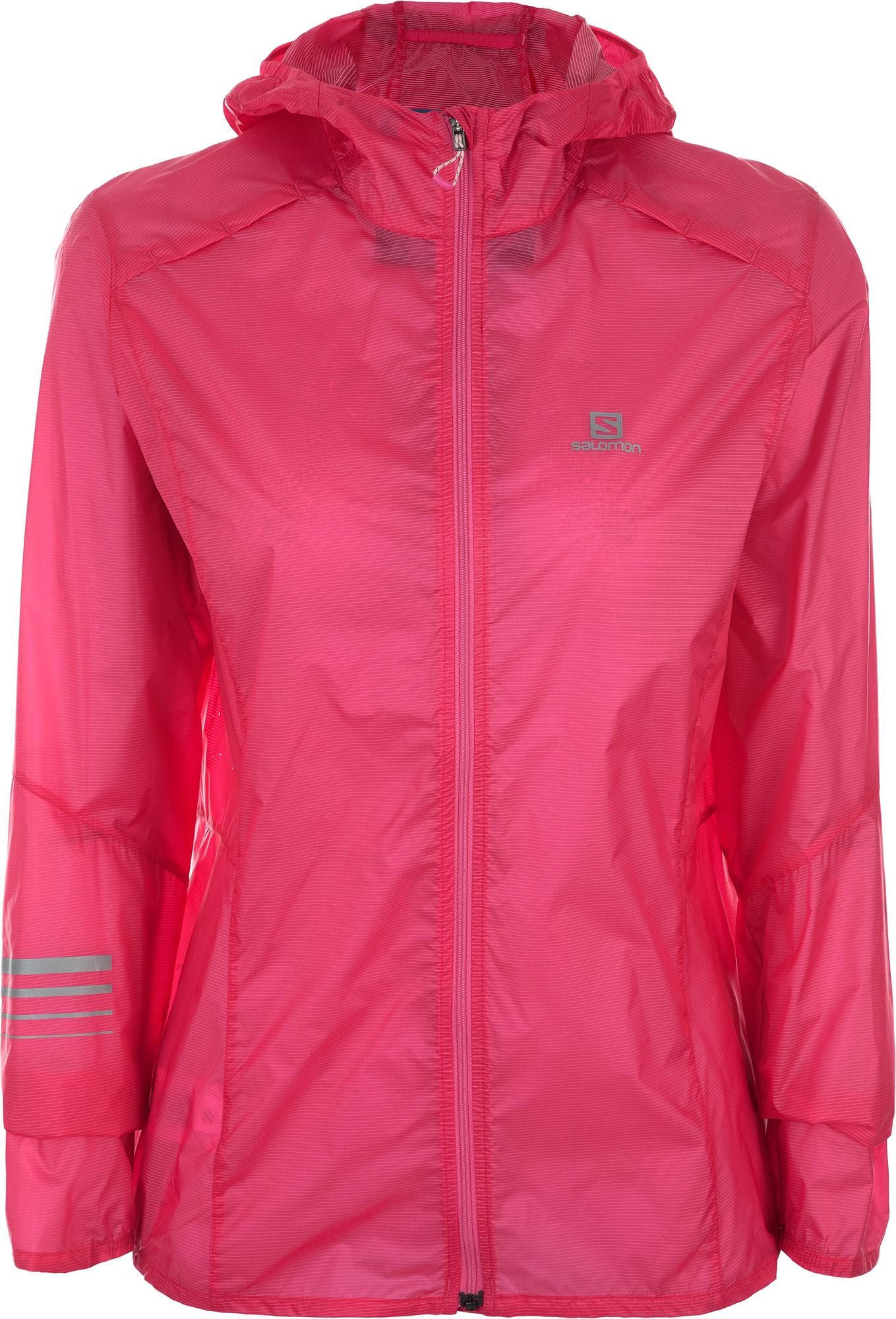 Salomon Ветровка женская Salomon Lightning Wind, размер 48-50 ветровка женская puma lastlap graphic jacket w цвет розовый 51666703 размер xl 48 50