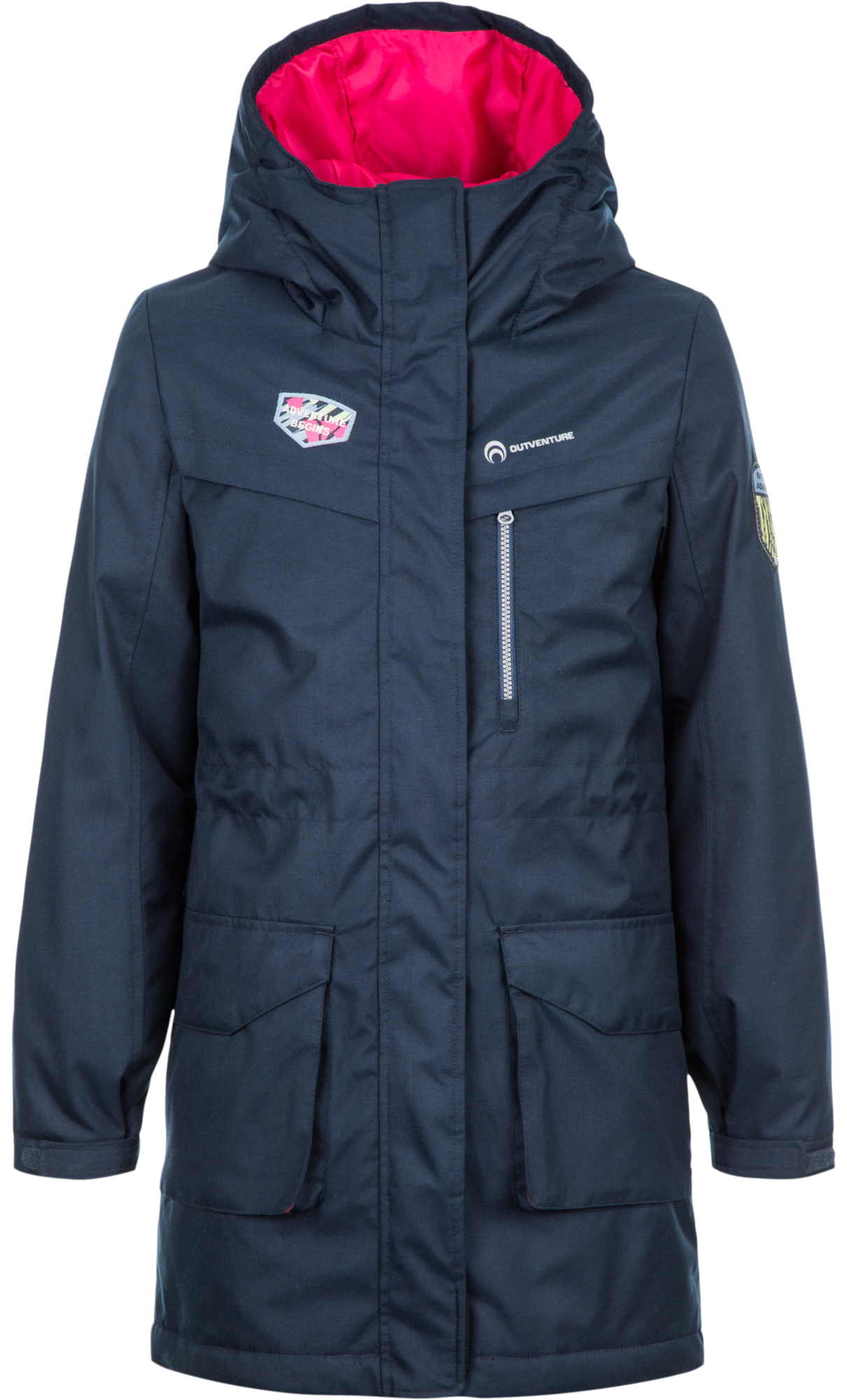 Outventure Куртка утепленная для девочек Outventure, размер 140