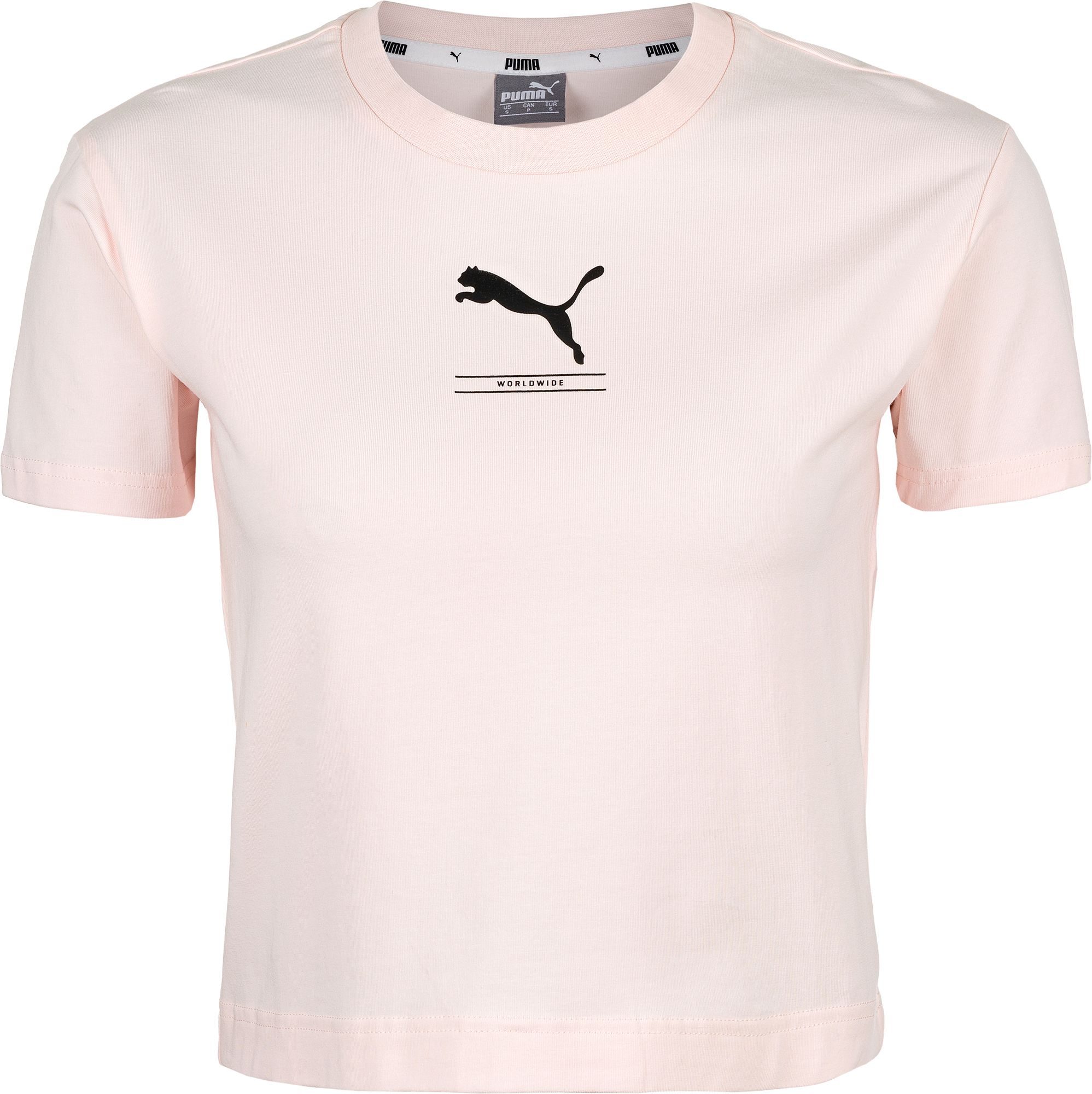 Puma Футболка женская Puma Nu-tility Fitted Tee, размер 46-48 slim striped fitted tee