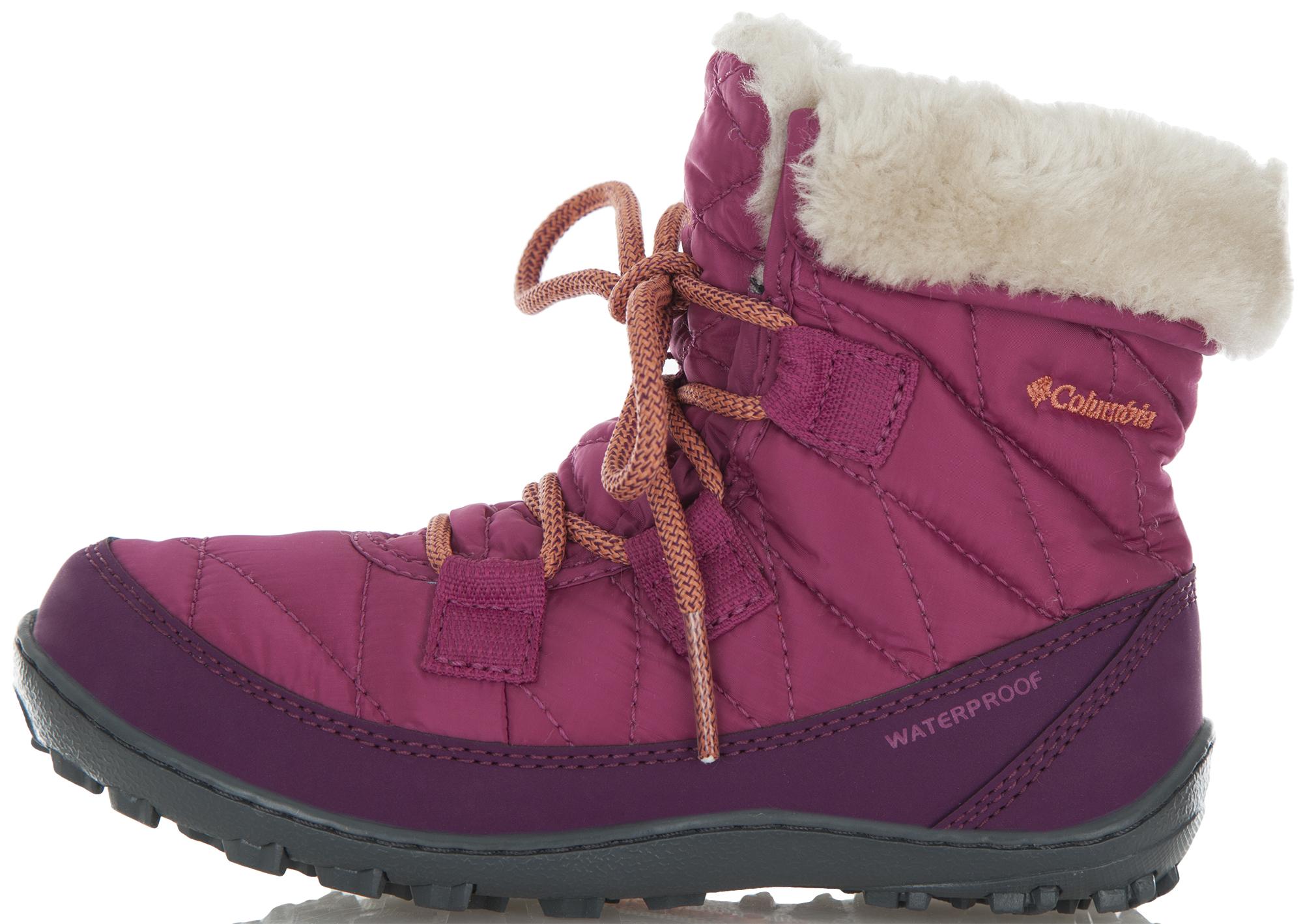 Columbia Ботинки утепленные для девочек Columbia ботинки трекинговые columbia columbia co214awwic83