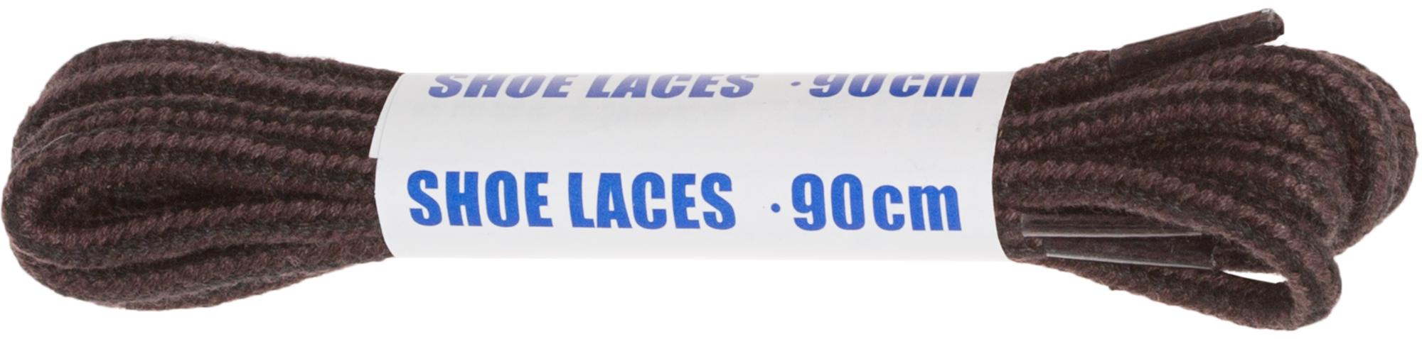 Woly Шнурки черно-коричневые круглые Sport, 90 см