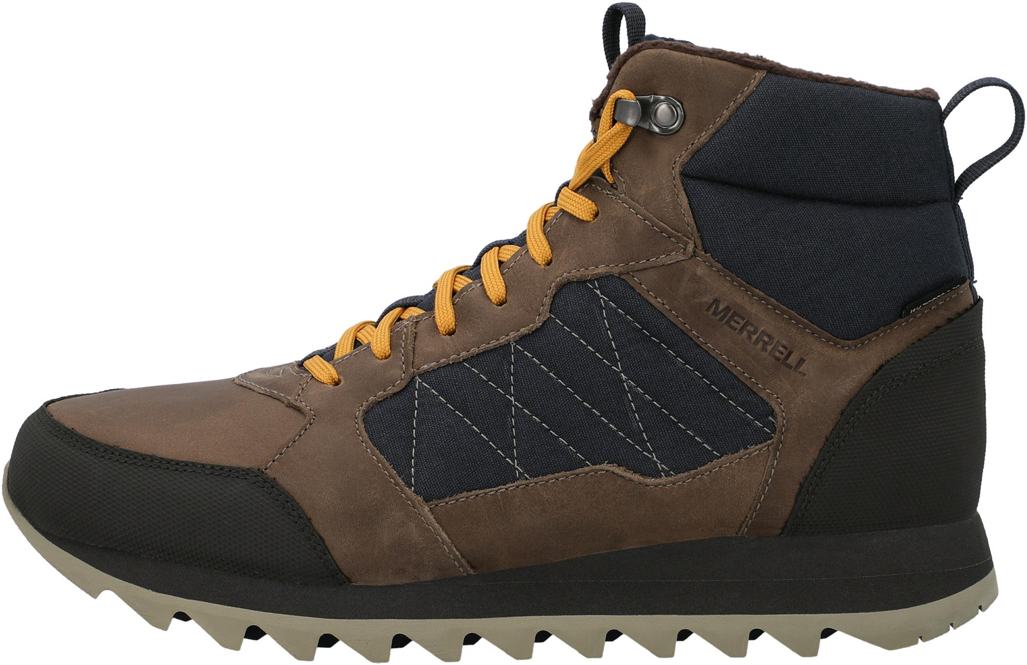 Merrell Ботинки утепленные мужские Merrell Alpine Sneaker MID PLR WP, размер 42 merrell ботинки мужские merrell forestbound wp размер 43