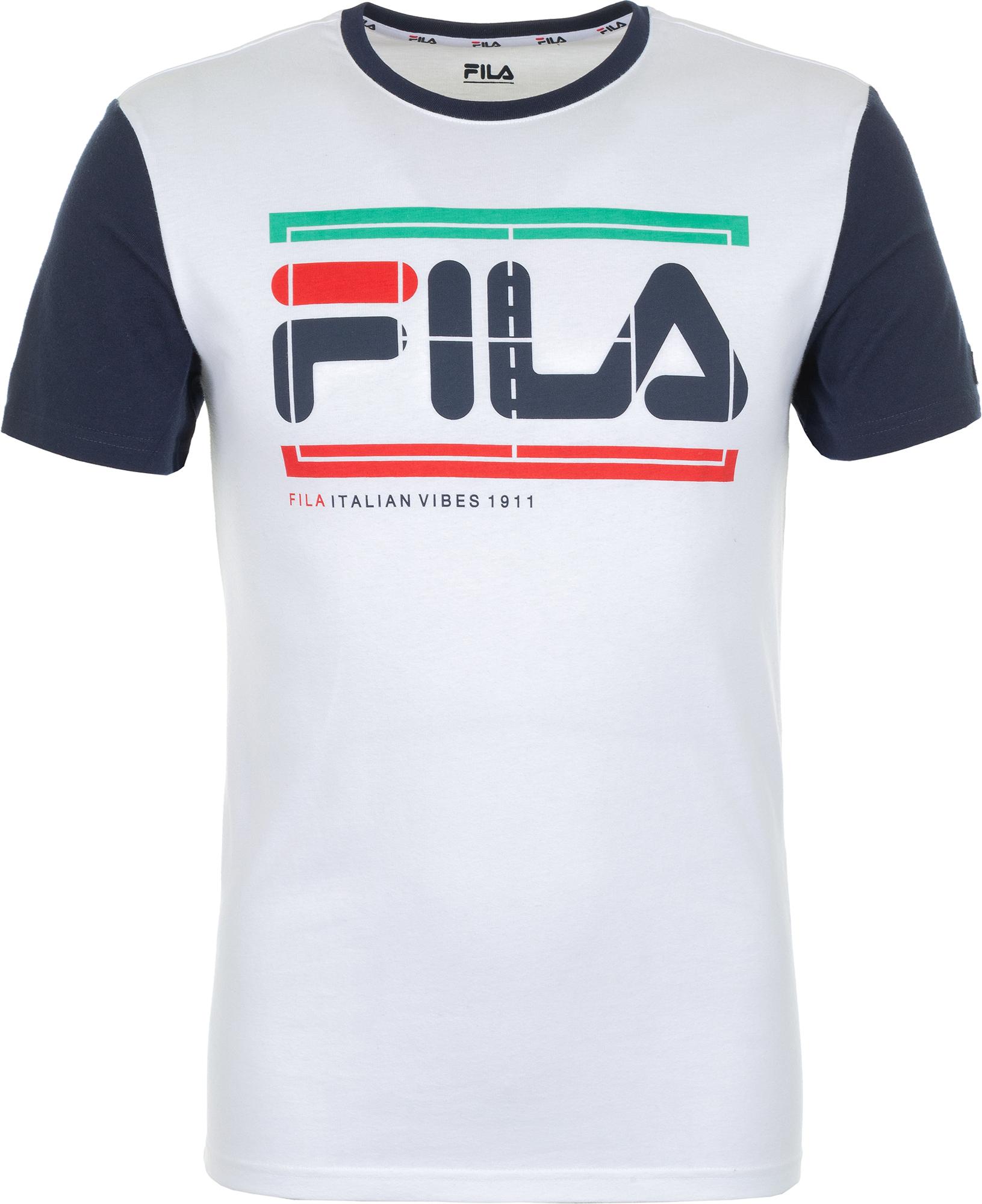 Fila Футболка мужская Fila, размер 52 куртка мужская fila цвет черный a19afljam07 99 размер m 48