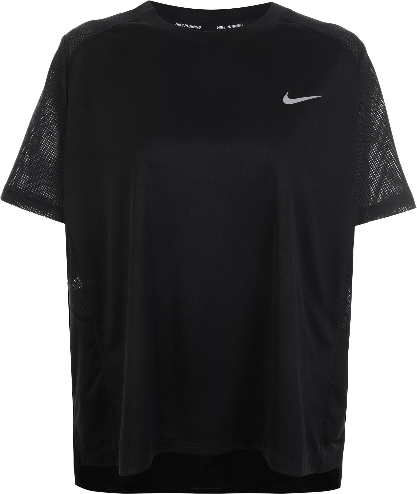 Nike Футболка женская Nike Miler, размер 54-56 футболка женская nike pro top цвет белый 889540 100 размер s 42 44