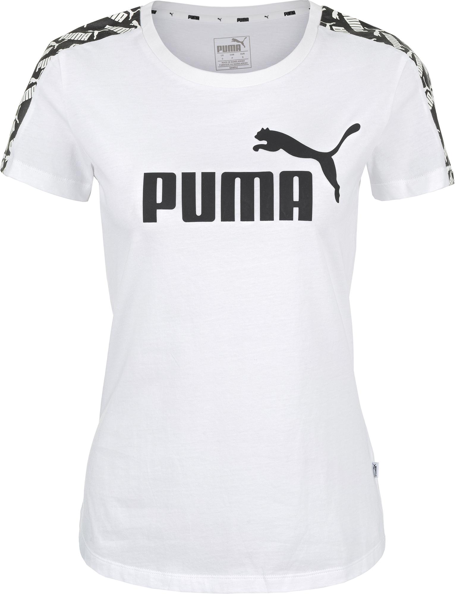 Puma Футболка женская Puma Amplified Tee, размер 40-42 футболка женская puma ess no 1 tee heather w цвет синий 83839920 размер s 42 44