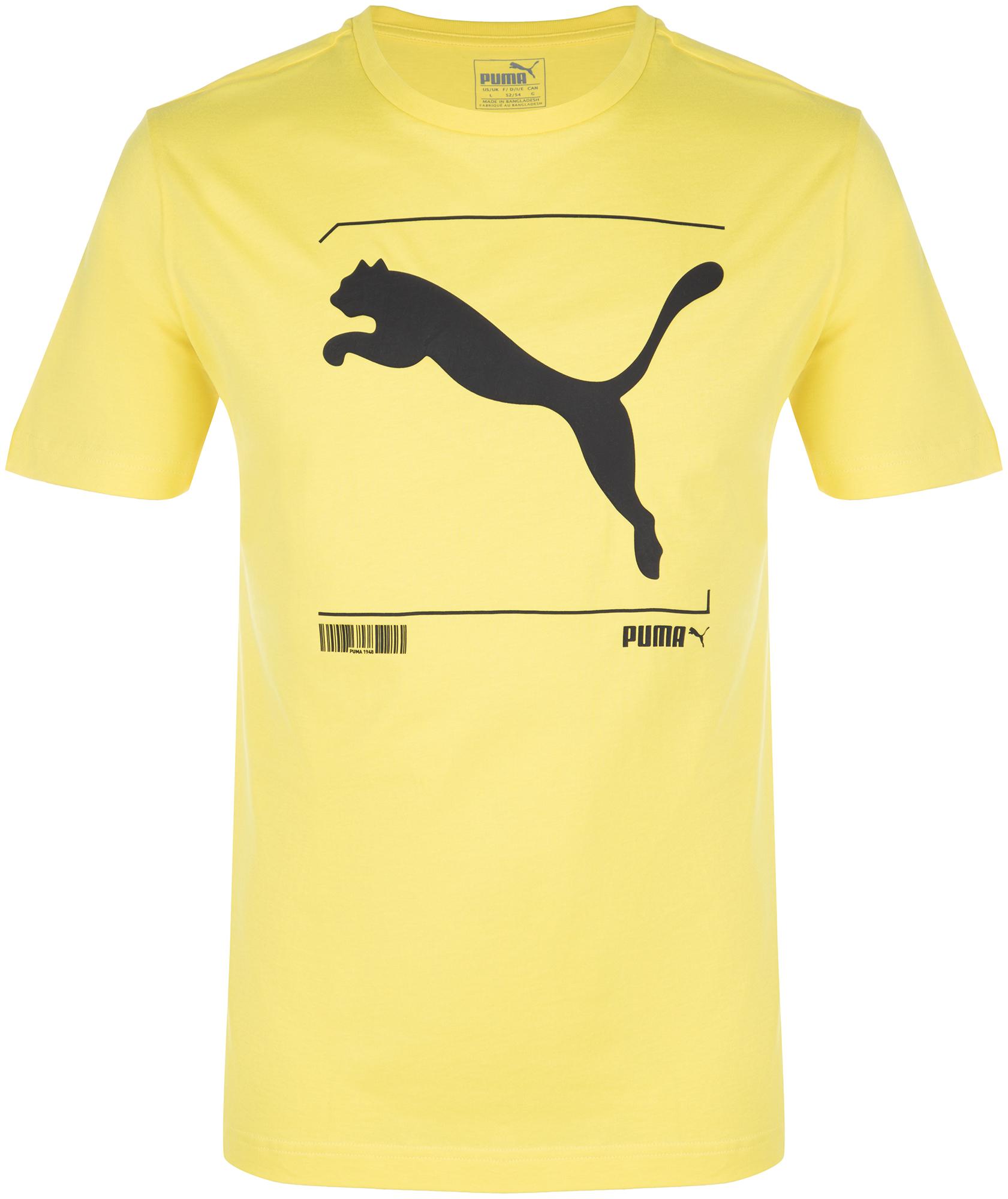 футболка для мальчика puma ftblnxt graphic shirt jr цвет желтый черный 655560047 размер 128 Puma Футболка мужская Puma Nu-tility Graphic, размер 50-52