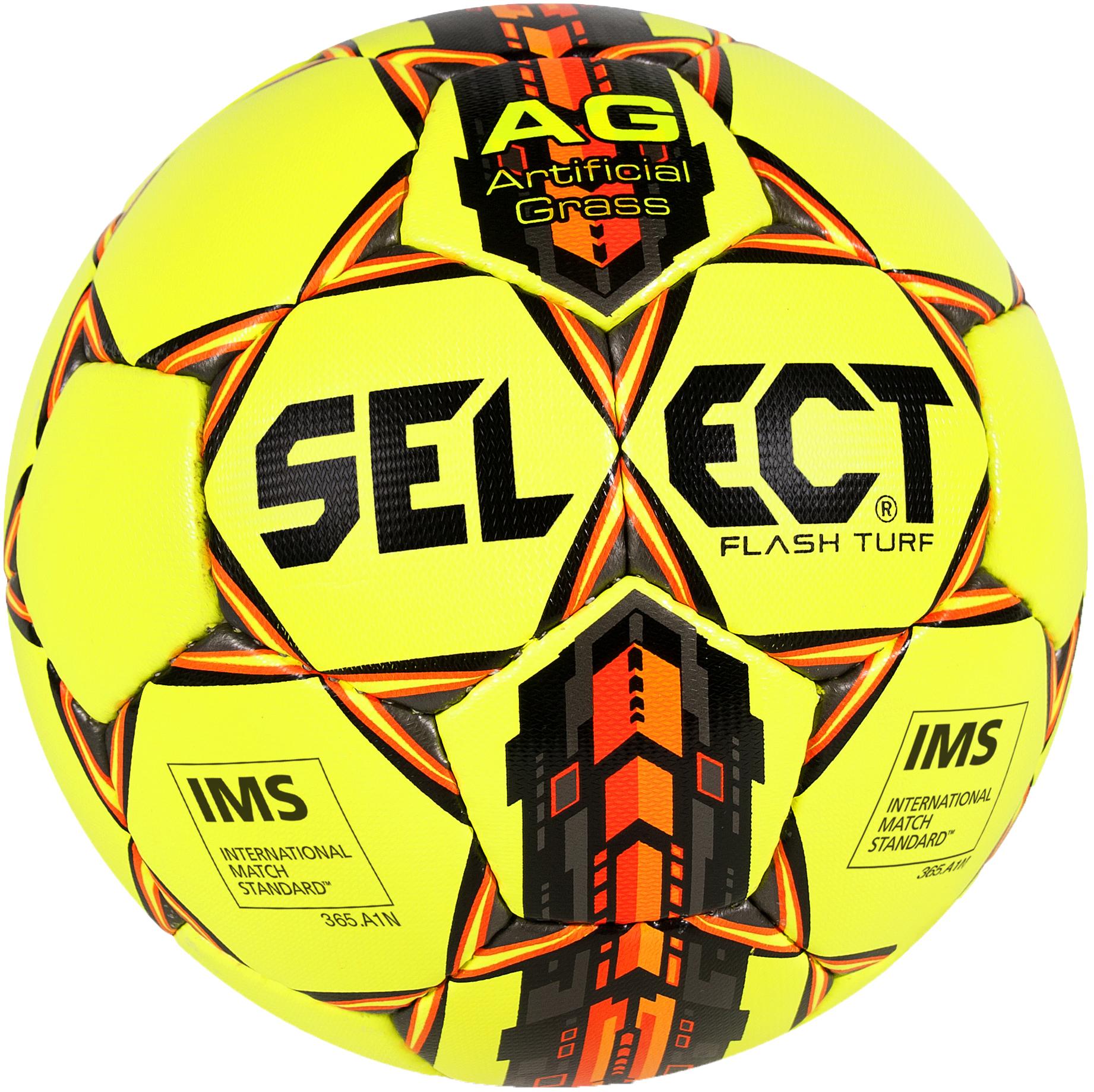 Select Мяч футбольный Select FLASH TURF, размер 5 тёмный шоколад для фонтанов callebaut select 54 5