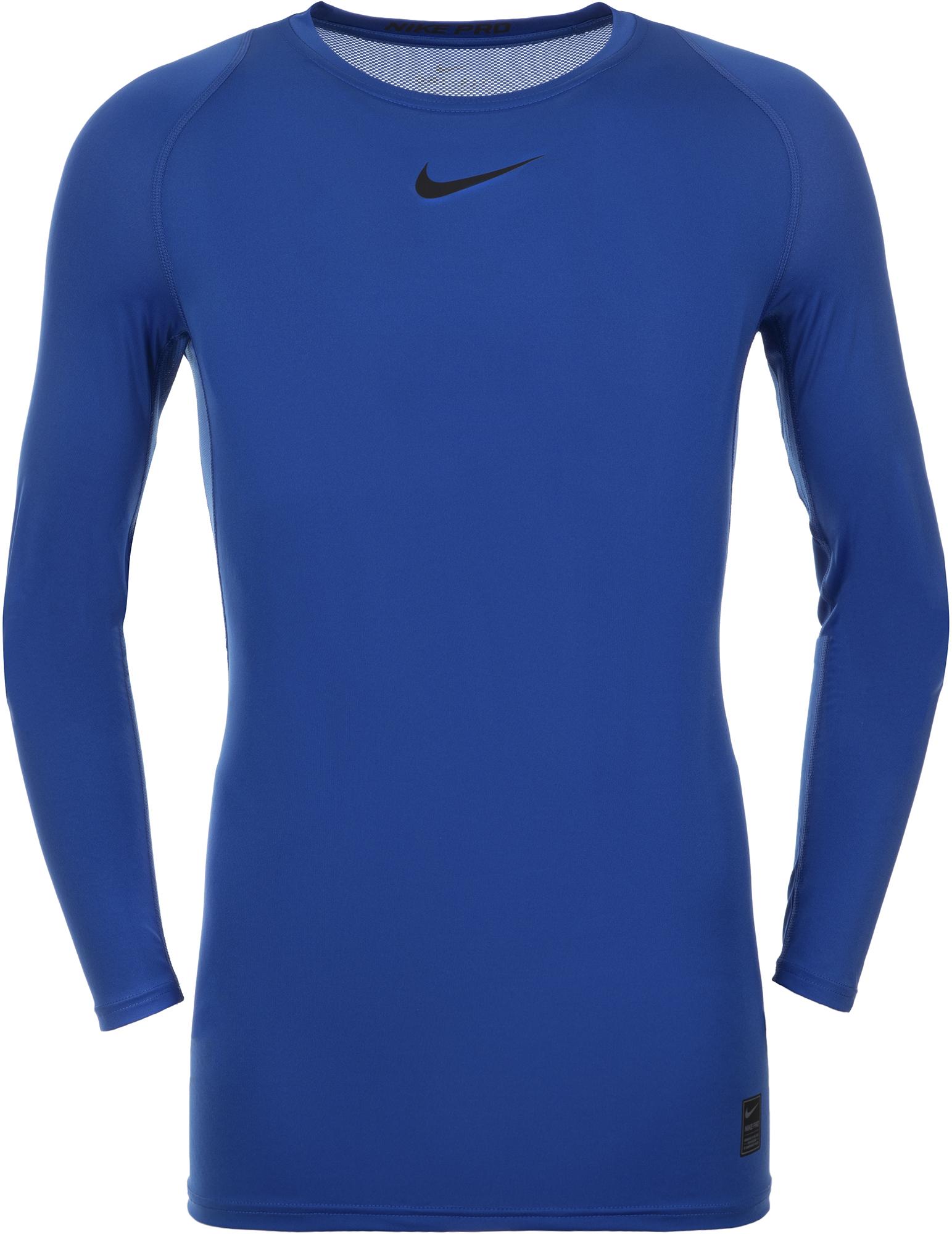 Nike Футболка с длинным рукавом мужская Nike Pro, размер 44-46 nike футболка мужская nike cool miler