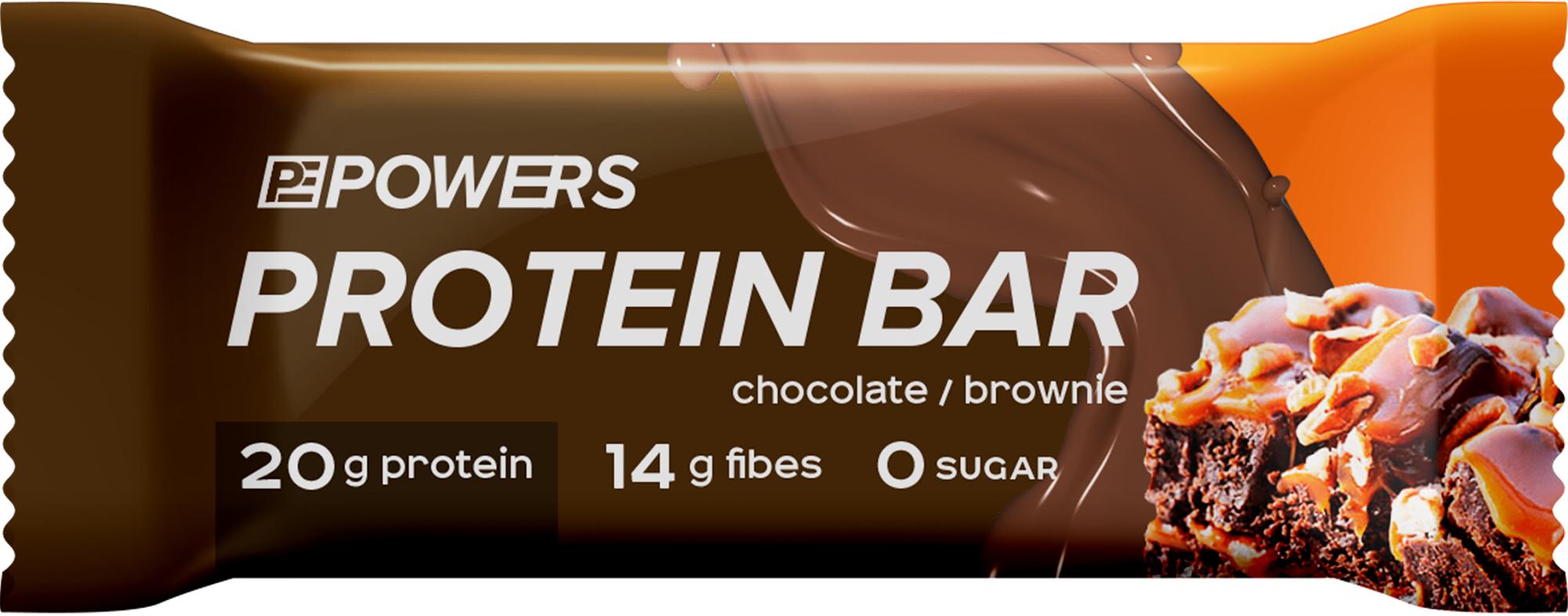 Powers Батончик протеиновый POWERS Шоколадный брауни