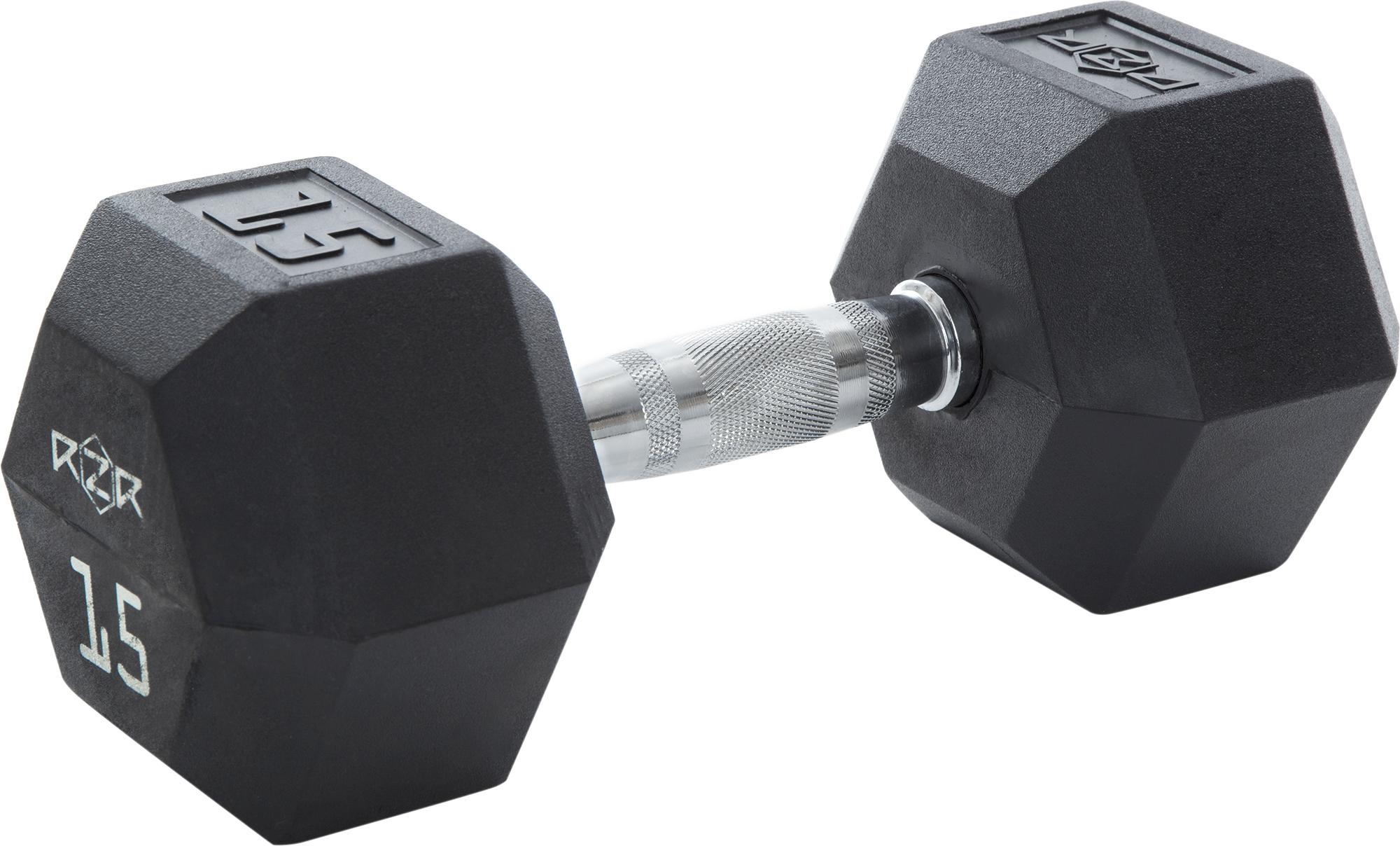 RZR Гантель гексагональная обрезиненная, 15 кг -HEX-15 цена