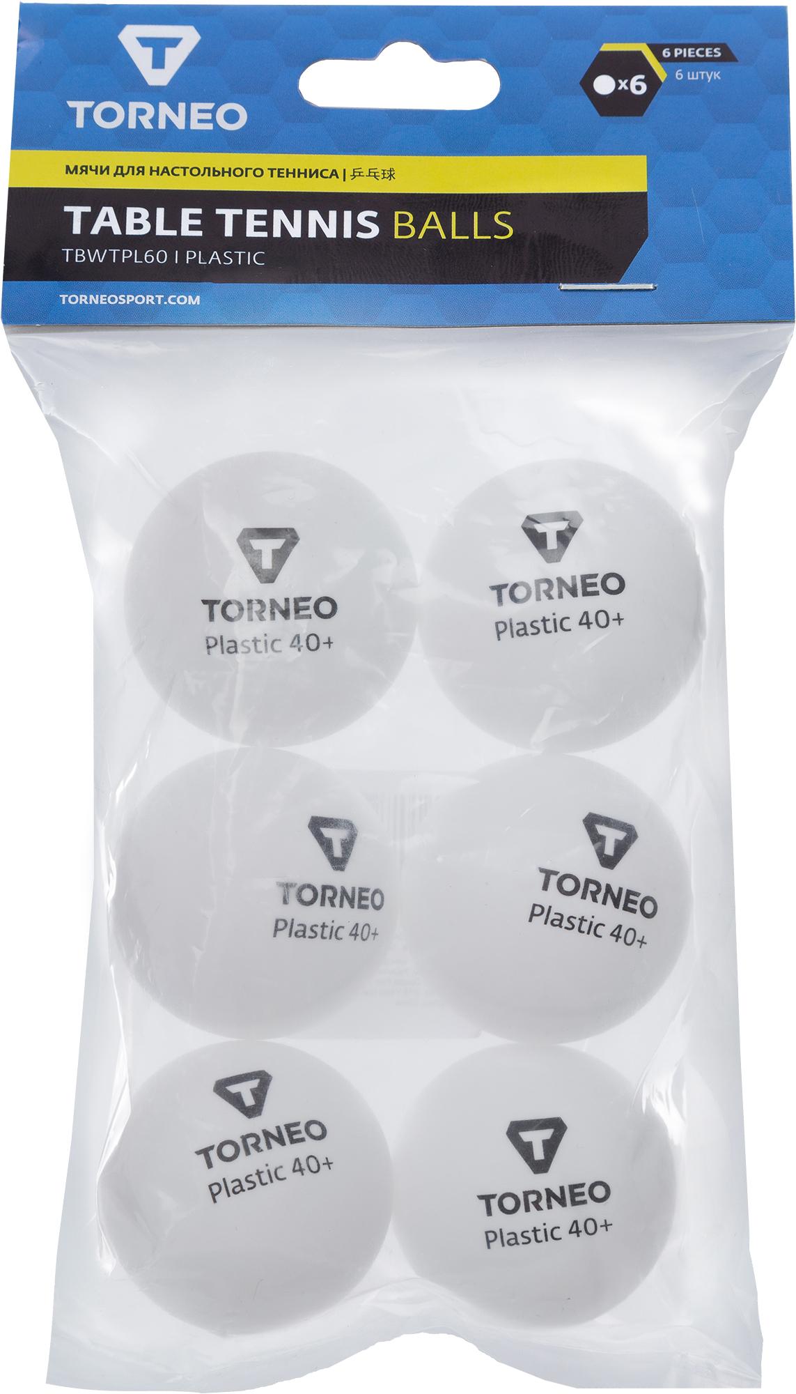 Torneo Набор мячей для настольного тенниса Torneo, 6 шт цена