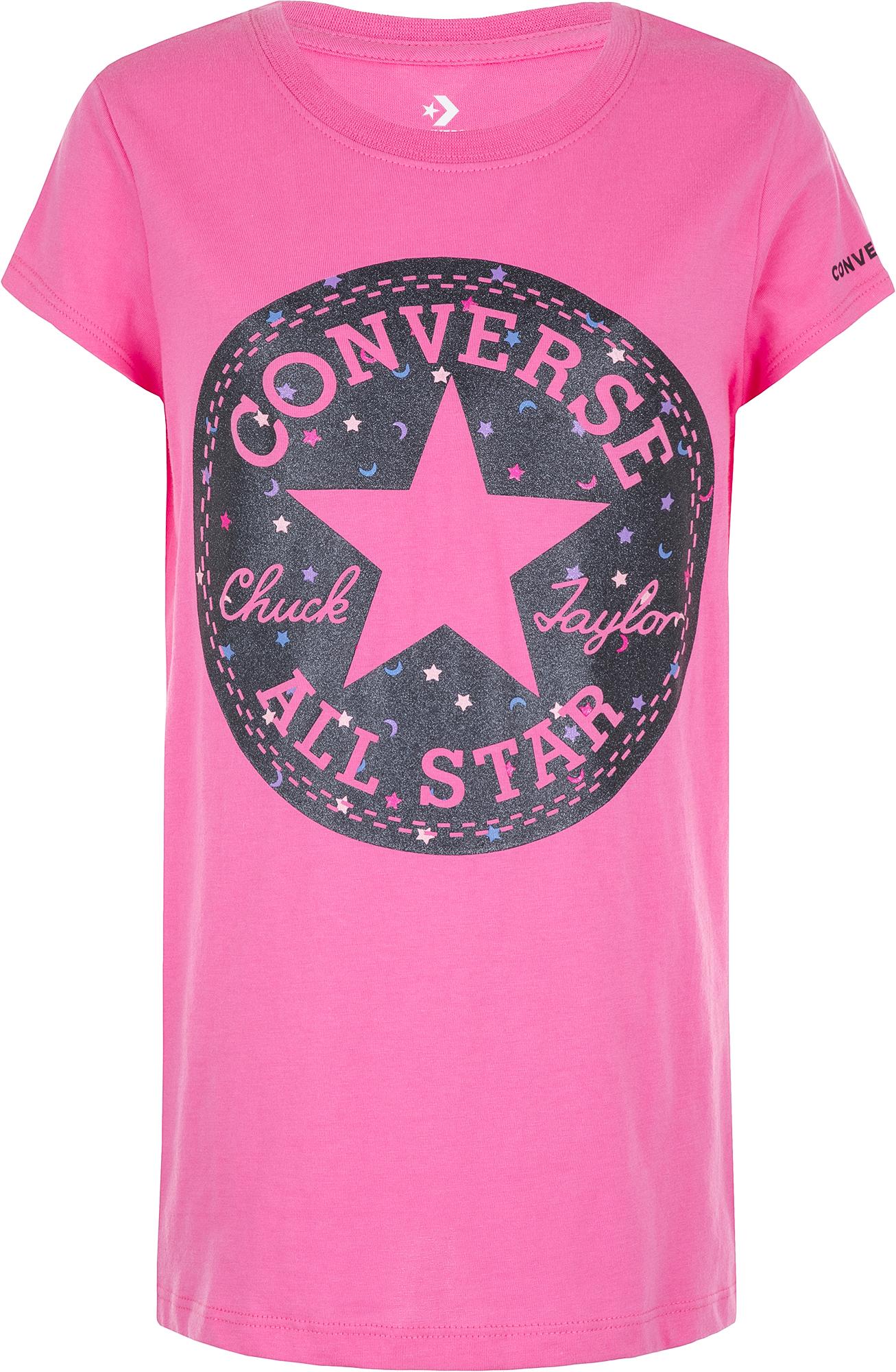 Converse Футболка для девочек Converse Chuck Patch Moon, размер 164