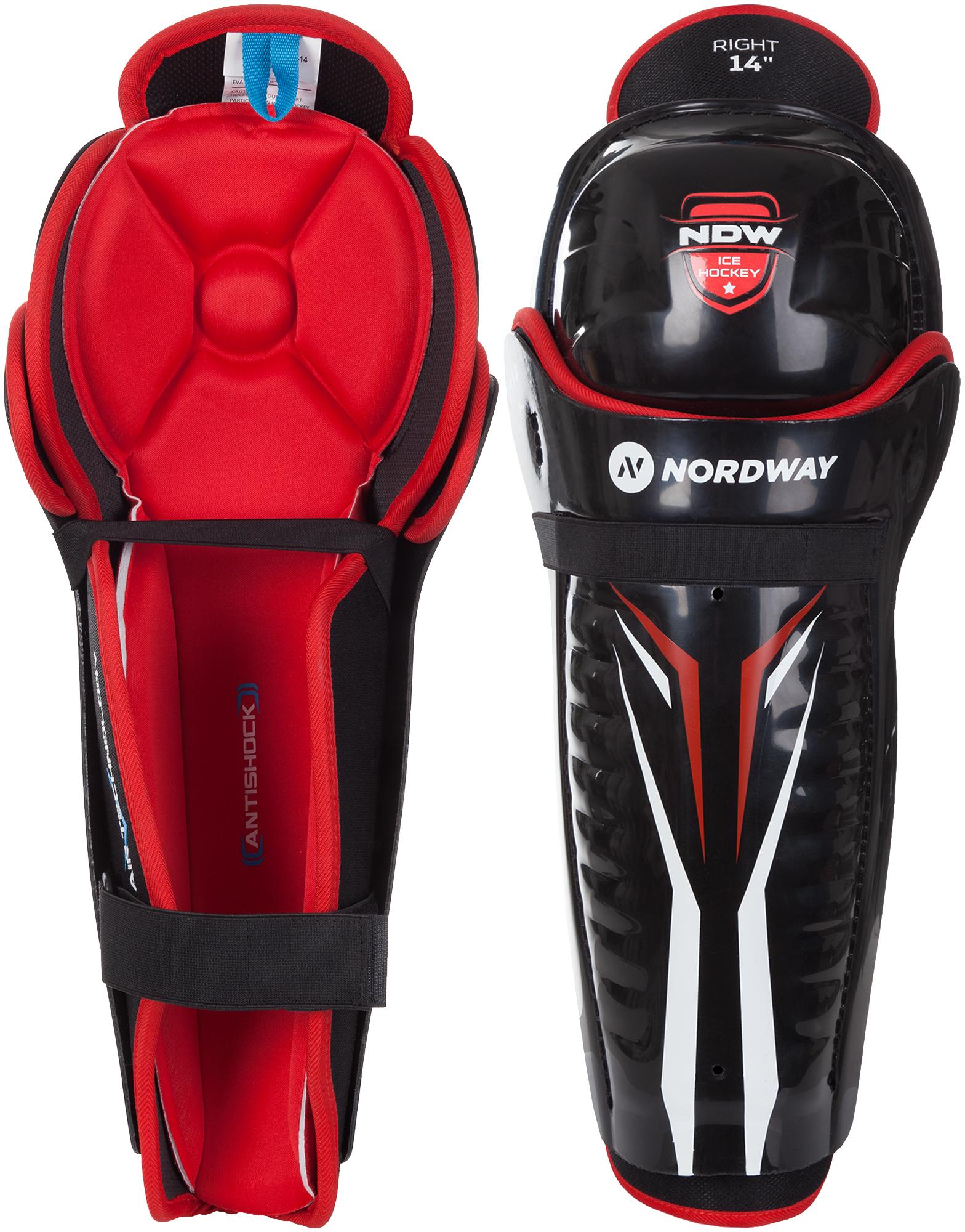 Nordway Щитки хоккейные Nordway SHIN GUARDS, размер 14 цены онлайн